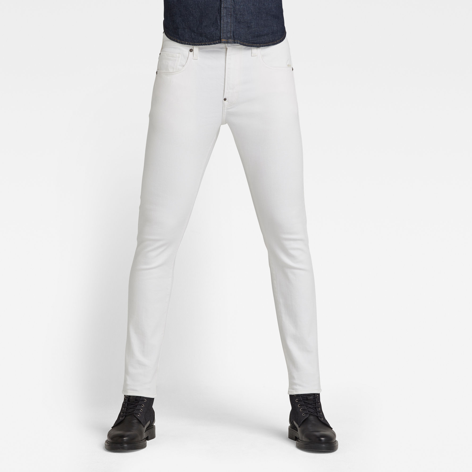 G-Star RAW Heren Revend Skinny Jeans Wit