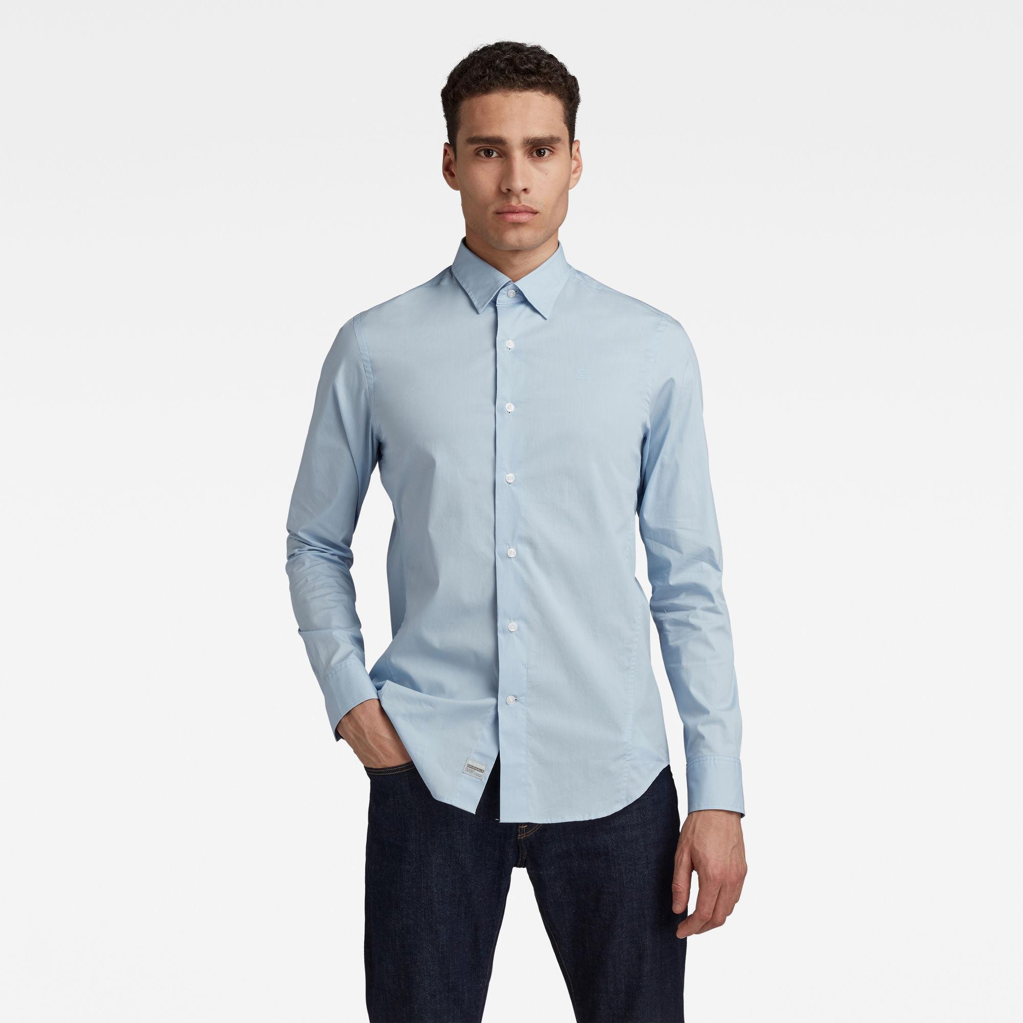 G-Star RAW Heren Dressed Super Slim Shirt Lichtblauw
