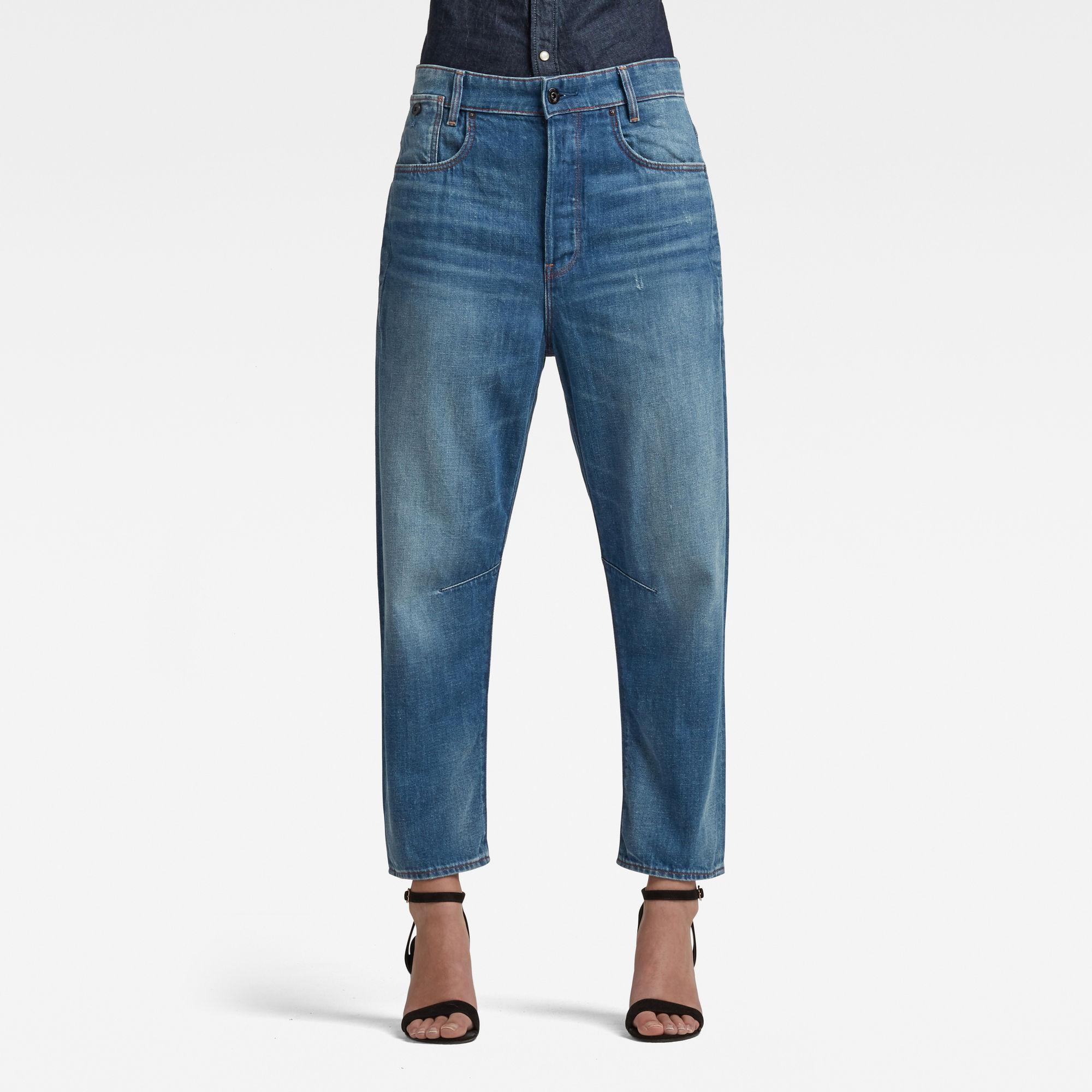 G-Star RAW Dames C-Staq 3D Boyfriend Cropped Jeans Lichtblauw
