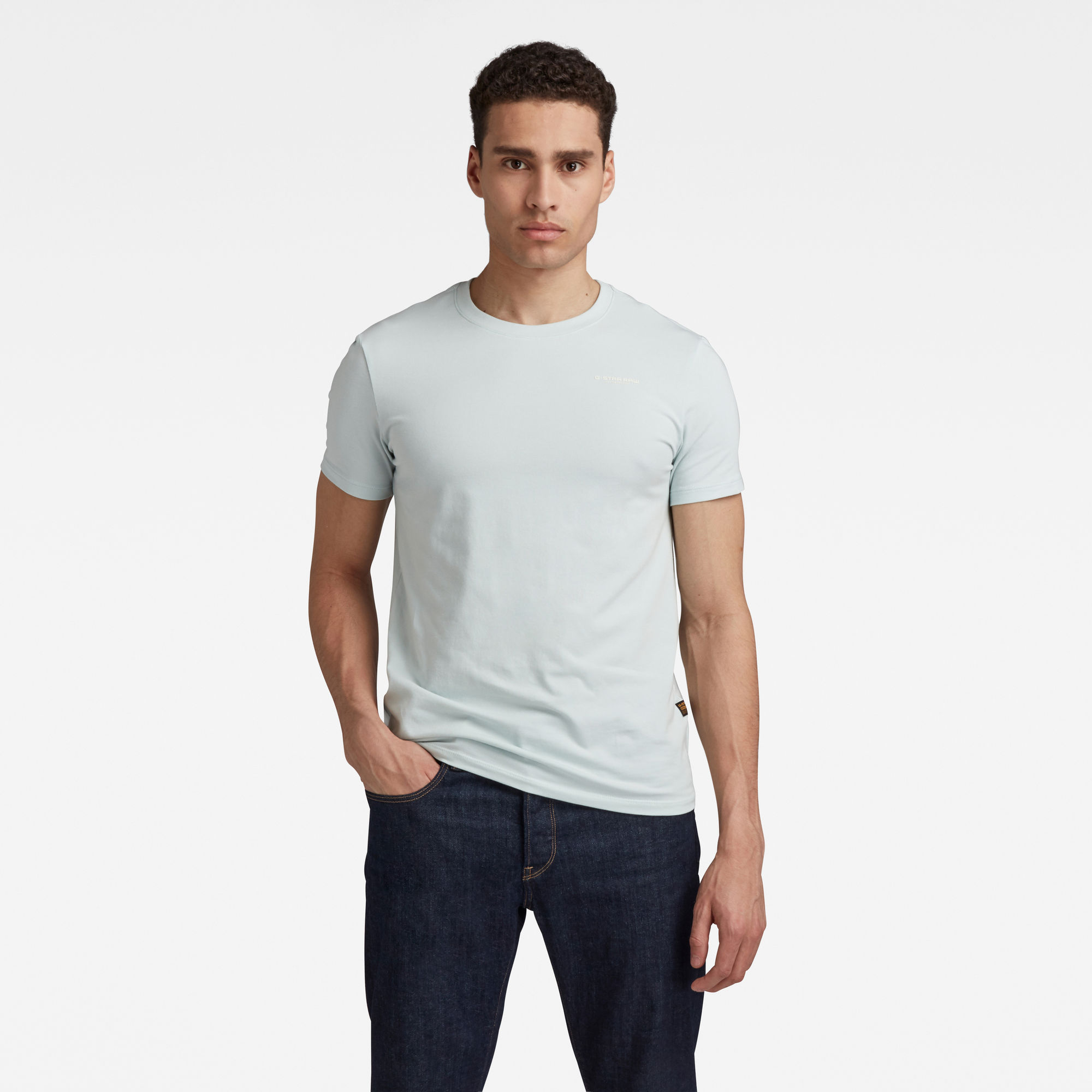 G-Star RAW Heren Slim Base T-Shirt Lichtblauw