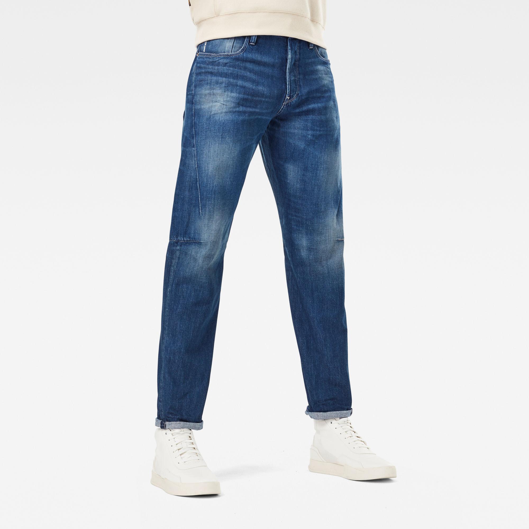 G-Star RAW Heren Scutar 3D Tapered Jeans C Blauw
