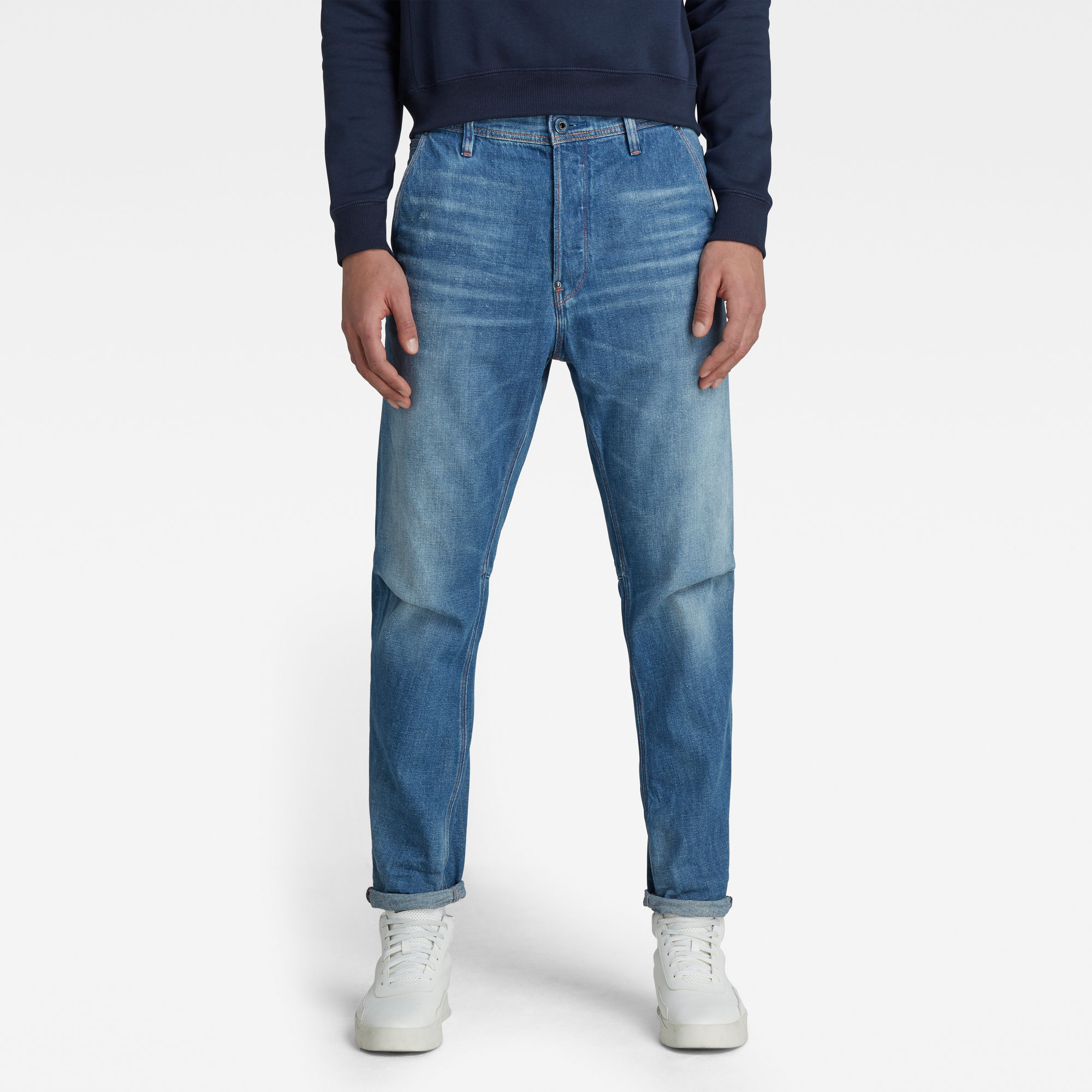 G-Star RAW Heren Grip 3D Relaxed Tapered Jeans Lichtblauw