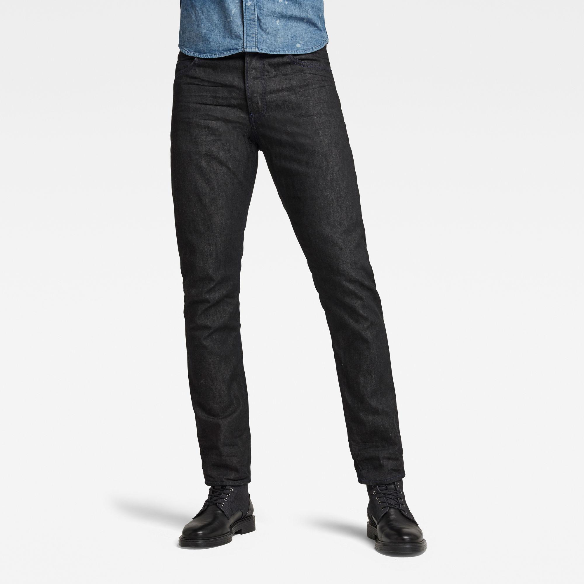 G-Star RAW Heren Triple A Regular Straight Jeans Zwart