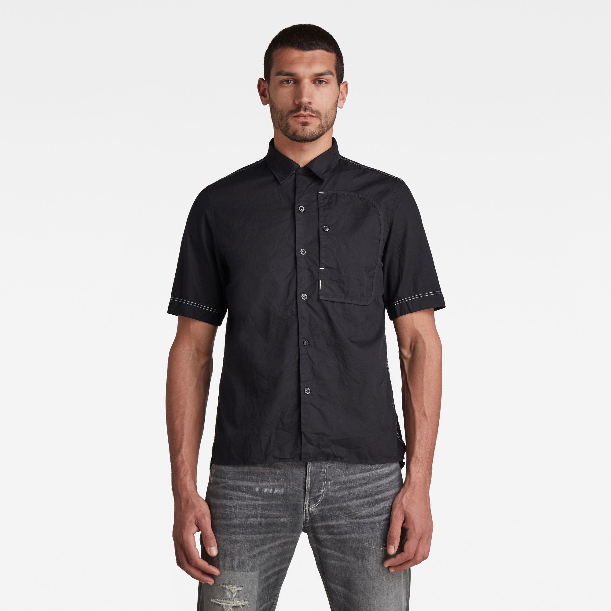 G-Star RAW Heren Bound Pocket Regular Shirt Zwart