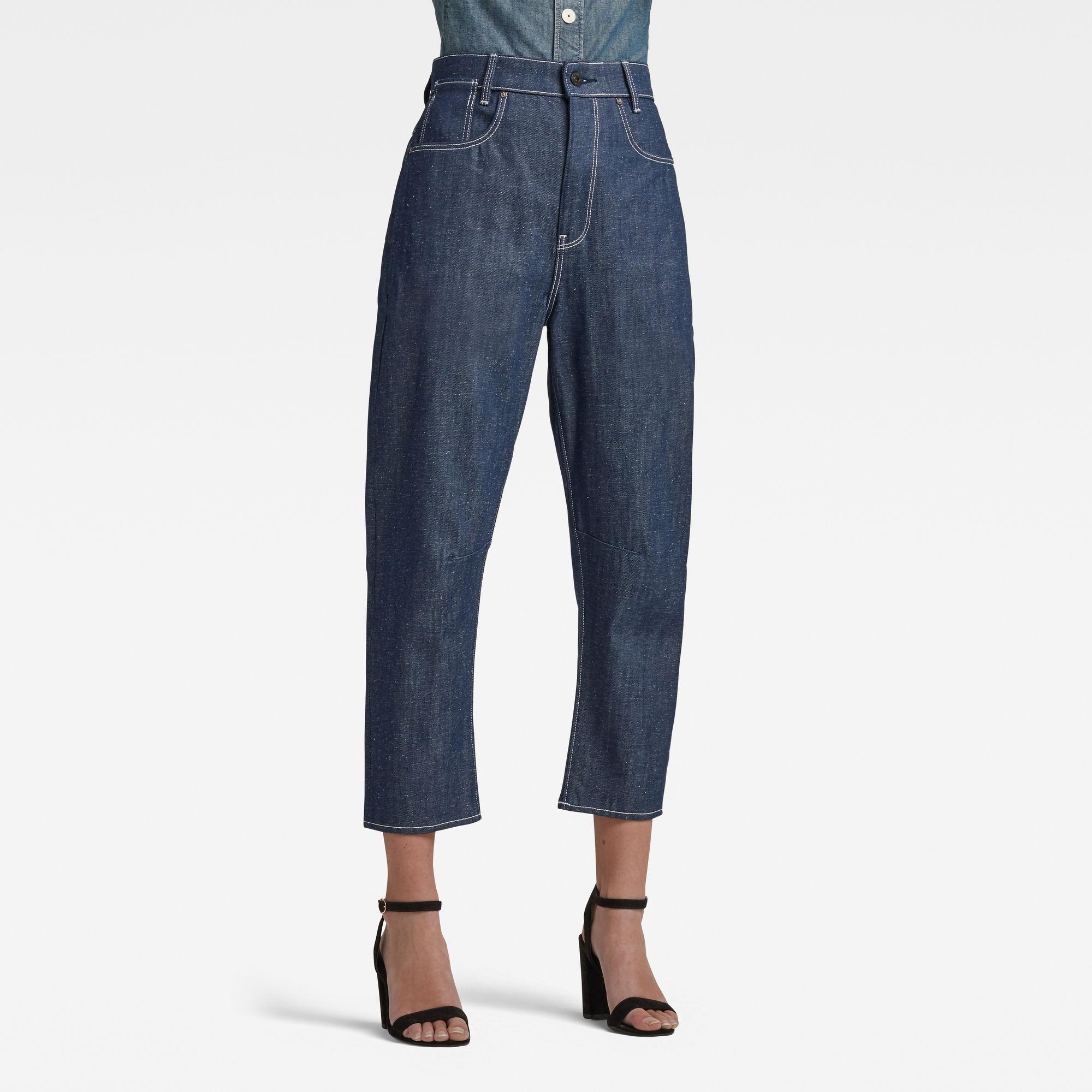G-Star RAW Dames C-Staq 3d Boyfriend Crop Jeans C Donkerblauw