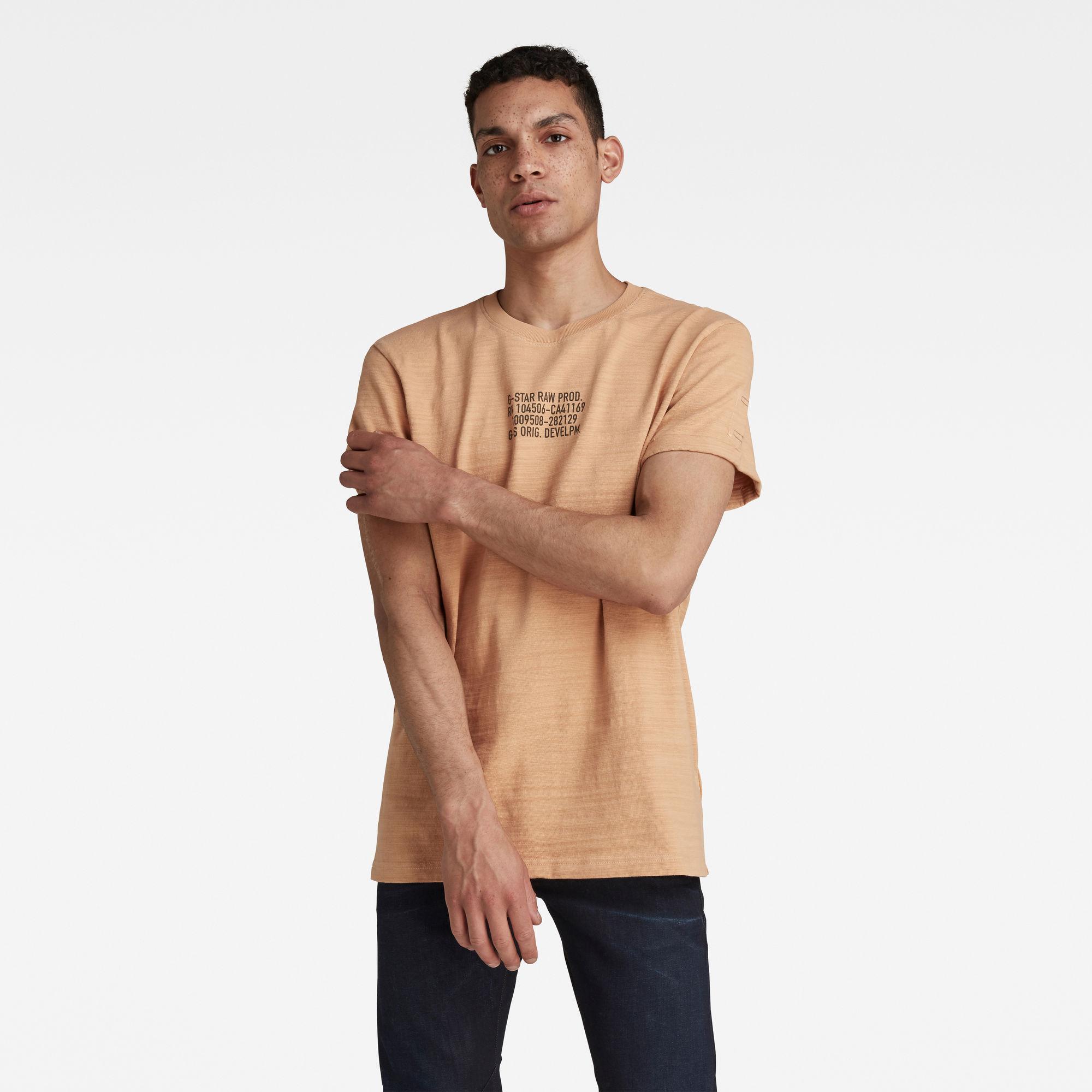 G-Star RAW Heren Chest Text Graphic T-Shirt Roze