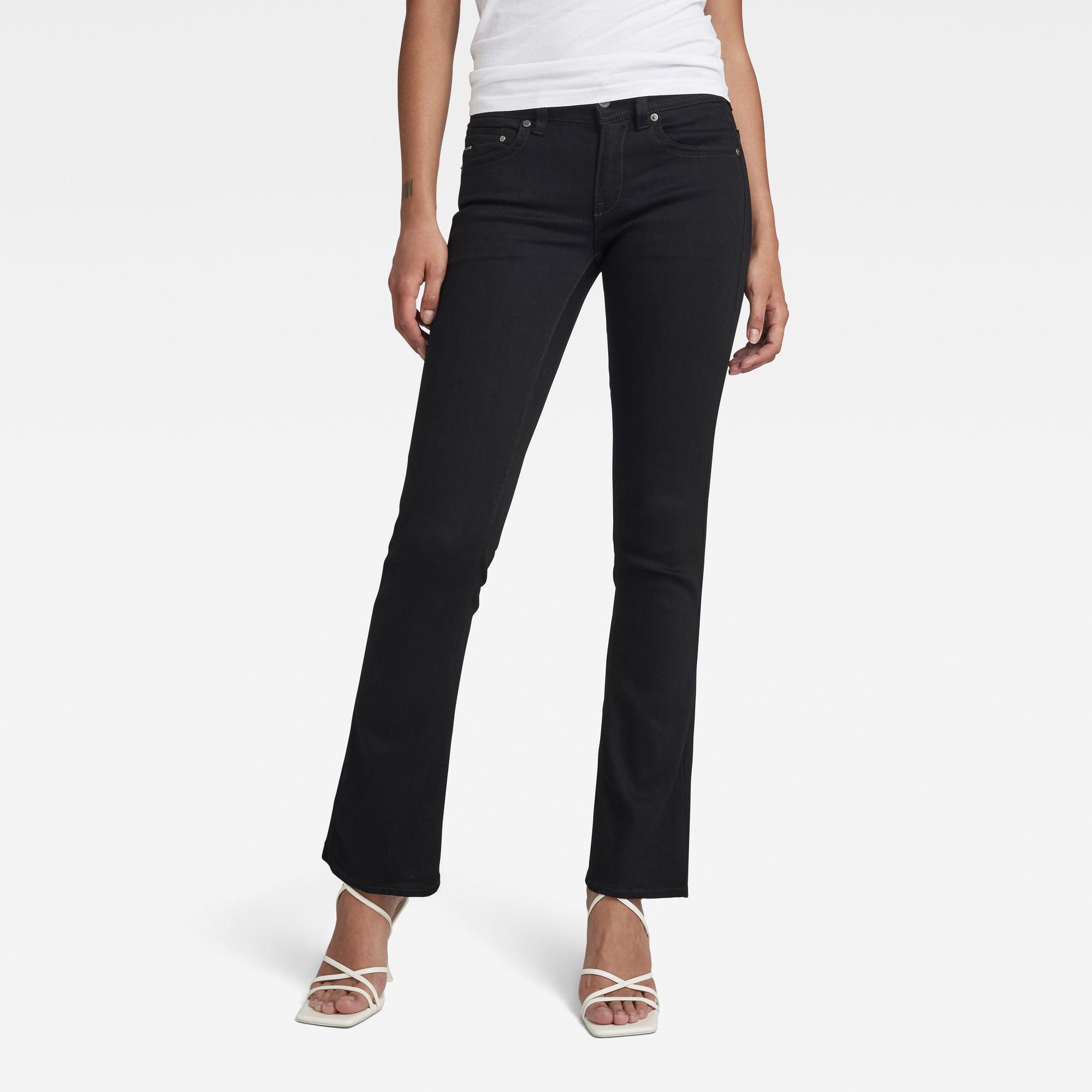 G-Star RAW Dames Midge Bootcut Jeans Donkerblauw