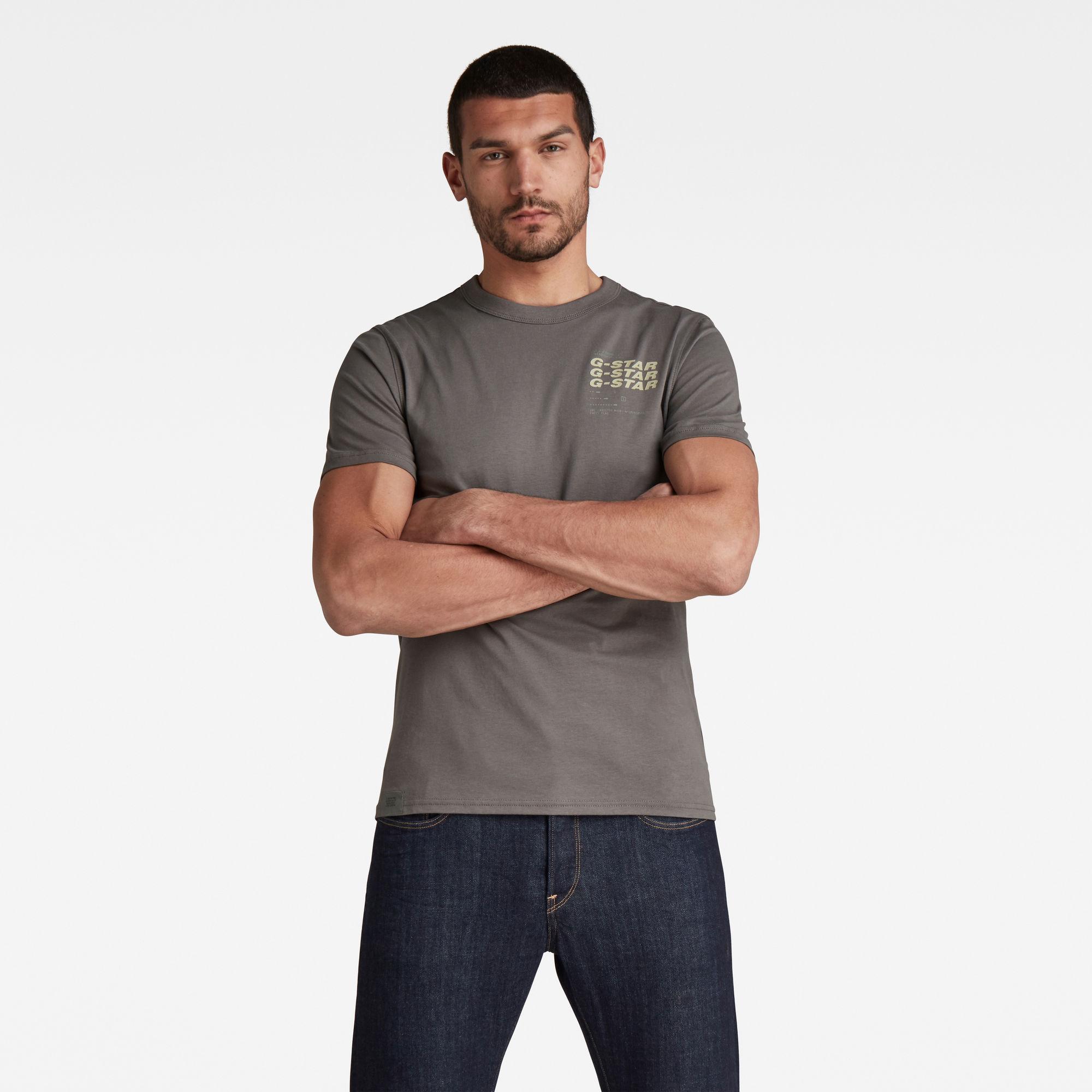 G-Star RAW Heren Big Back Graphic T-Shirt Grijs
