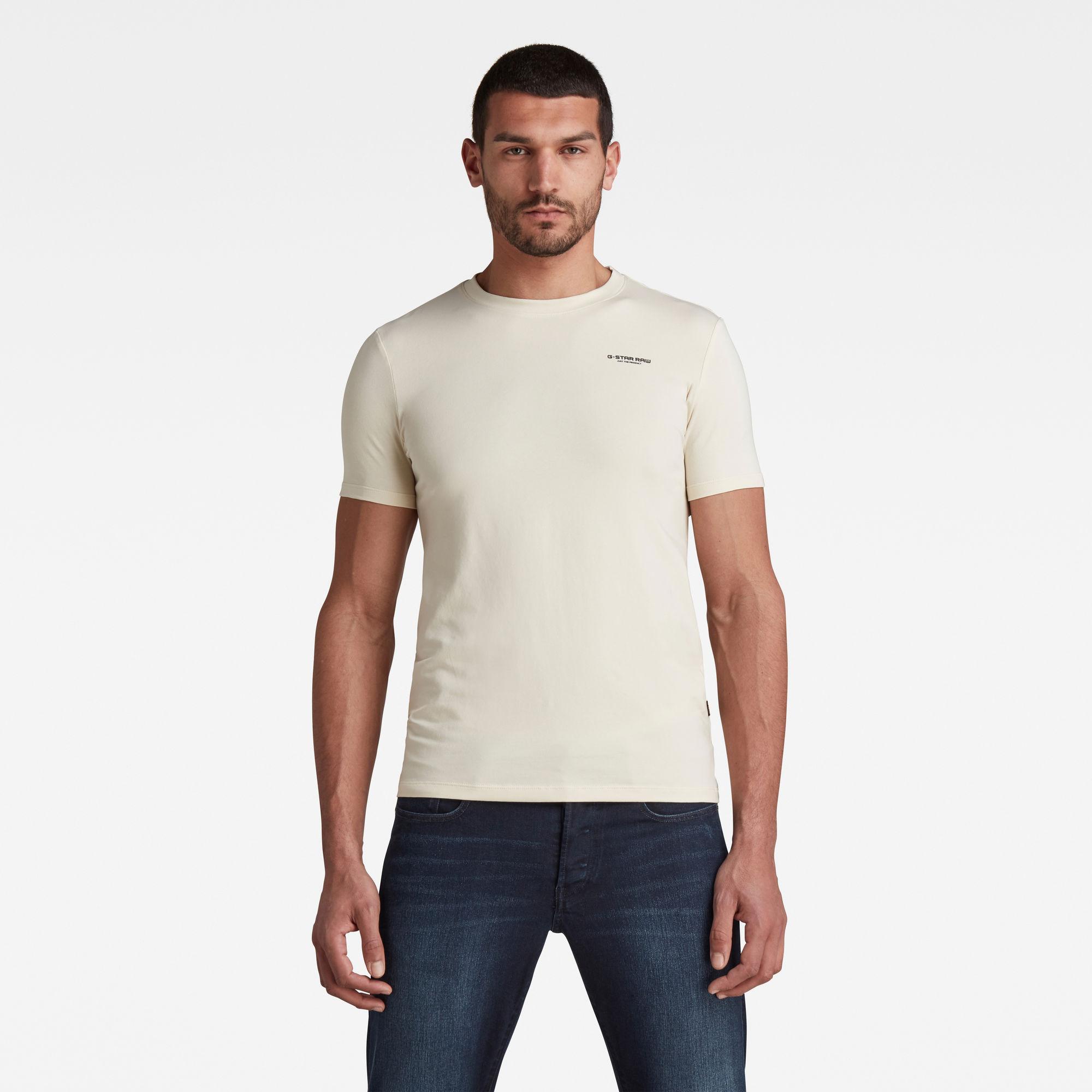 G-Star RAW Heren Slim Base T-Shirt Beige