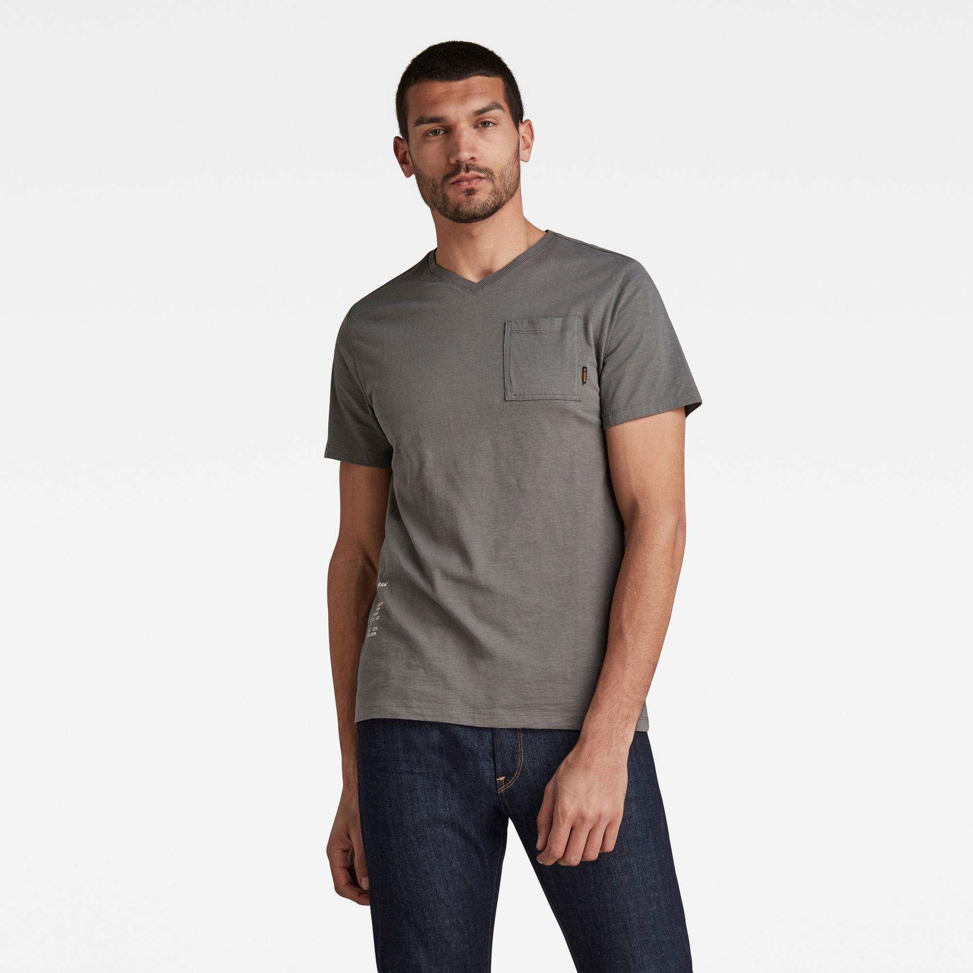 G-Star RAW Heren Cargo Sport T-Shirt Grijs
