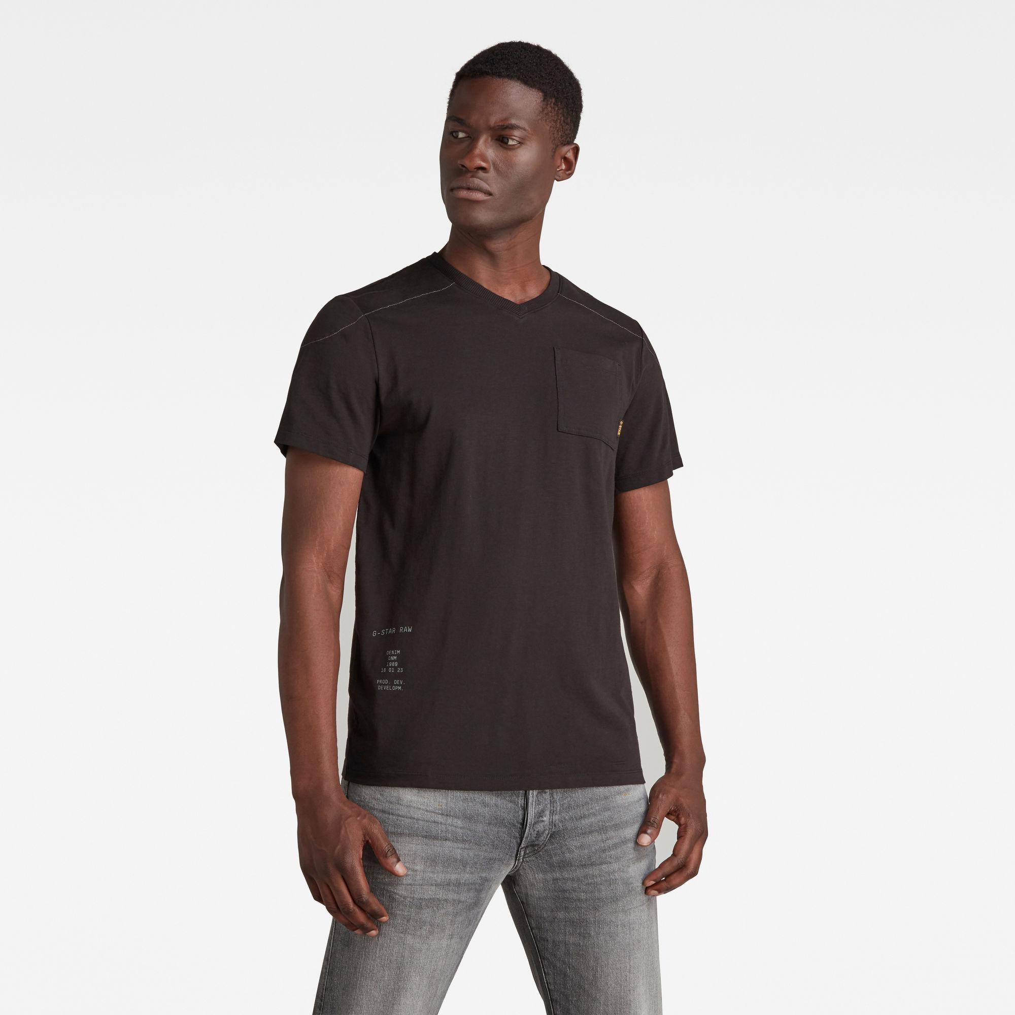 G-Star RAW Heren Cargo Sport T-Shirt Zwart