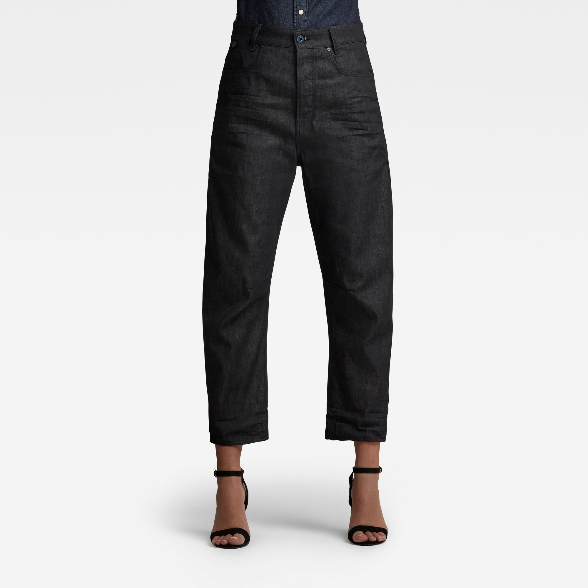 G-Star RAW Dames C-Staq 3D Boyfriend Cropped Jeans Zwart