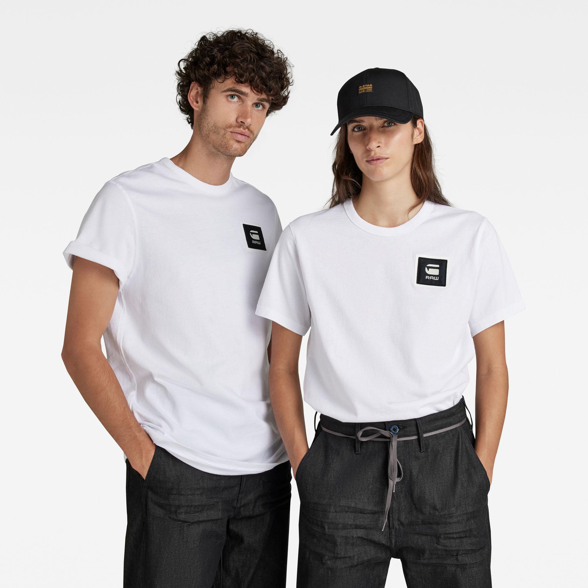 G-Star RAW Heren Badge Logo T-Shirt Wit