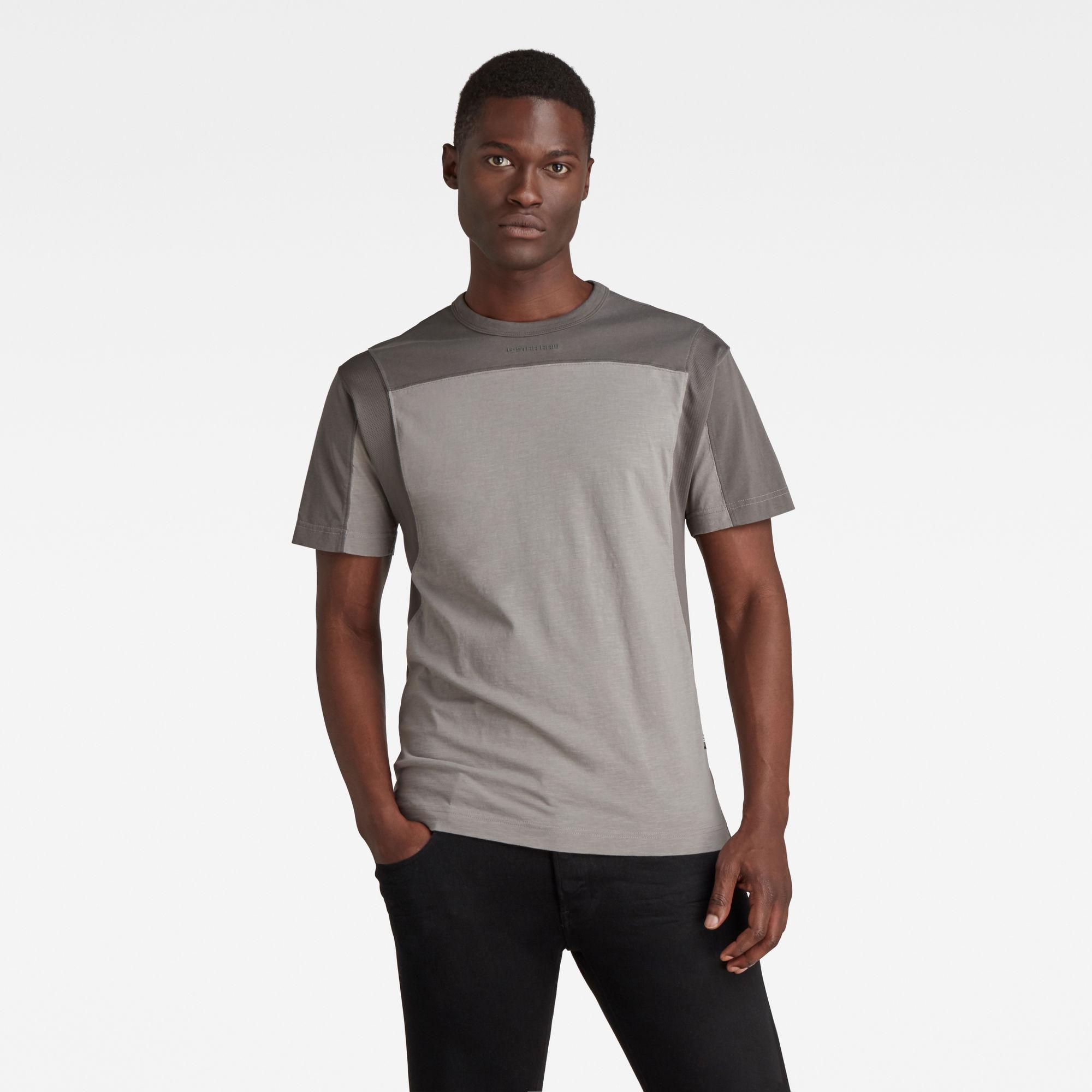 G-Star RAW Heren Moto Mesh Motac T-Shirt Grijs