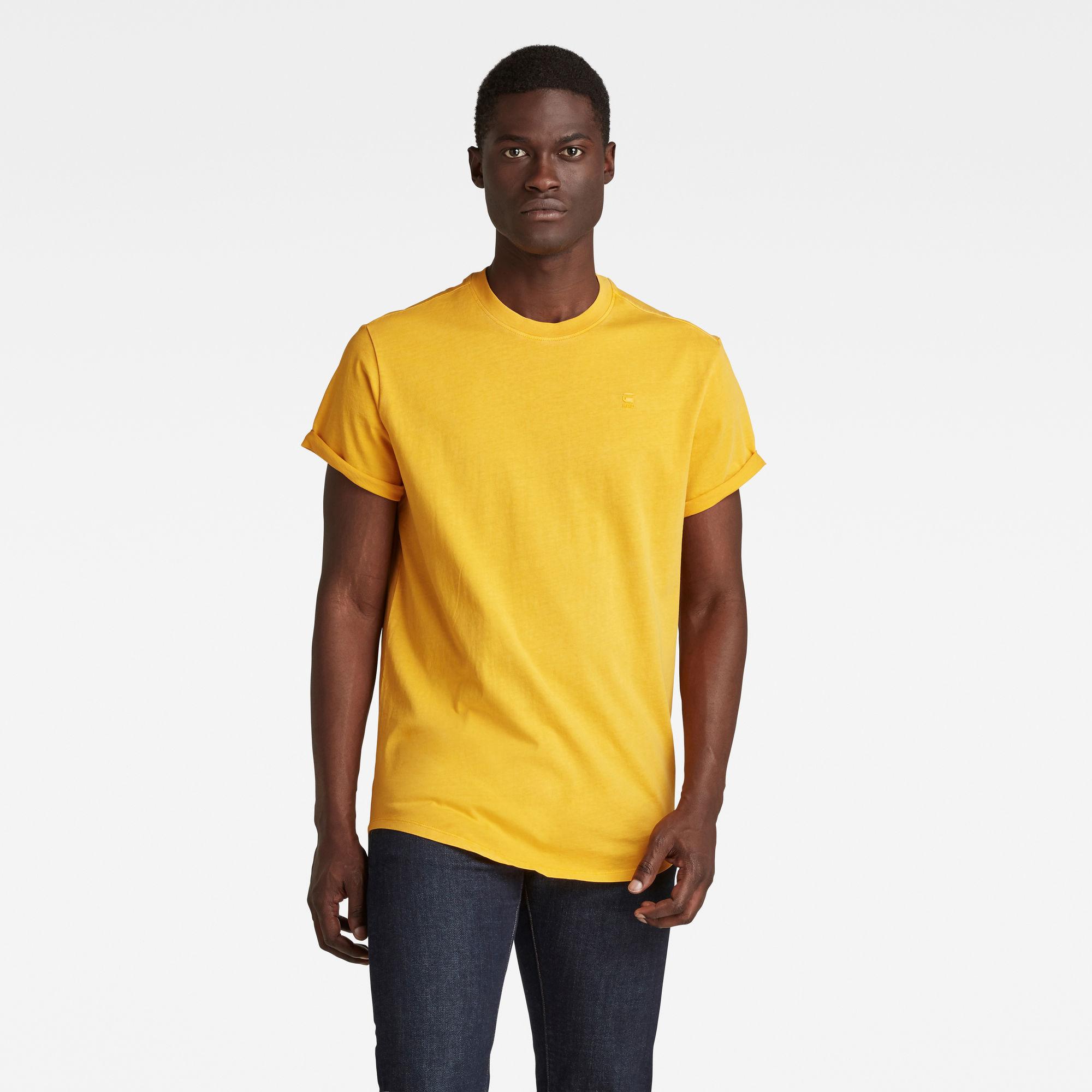 G-Star RAW Heren Lash T-Shirt Geel