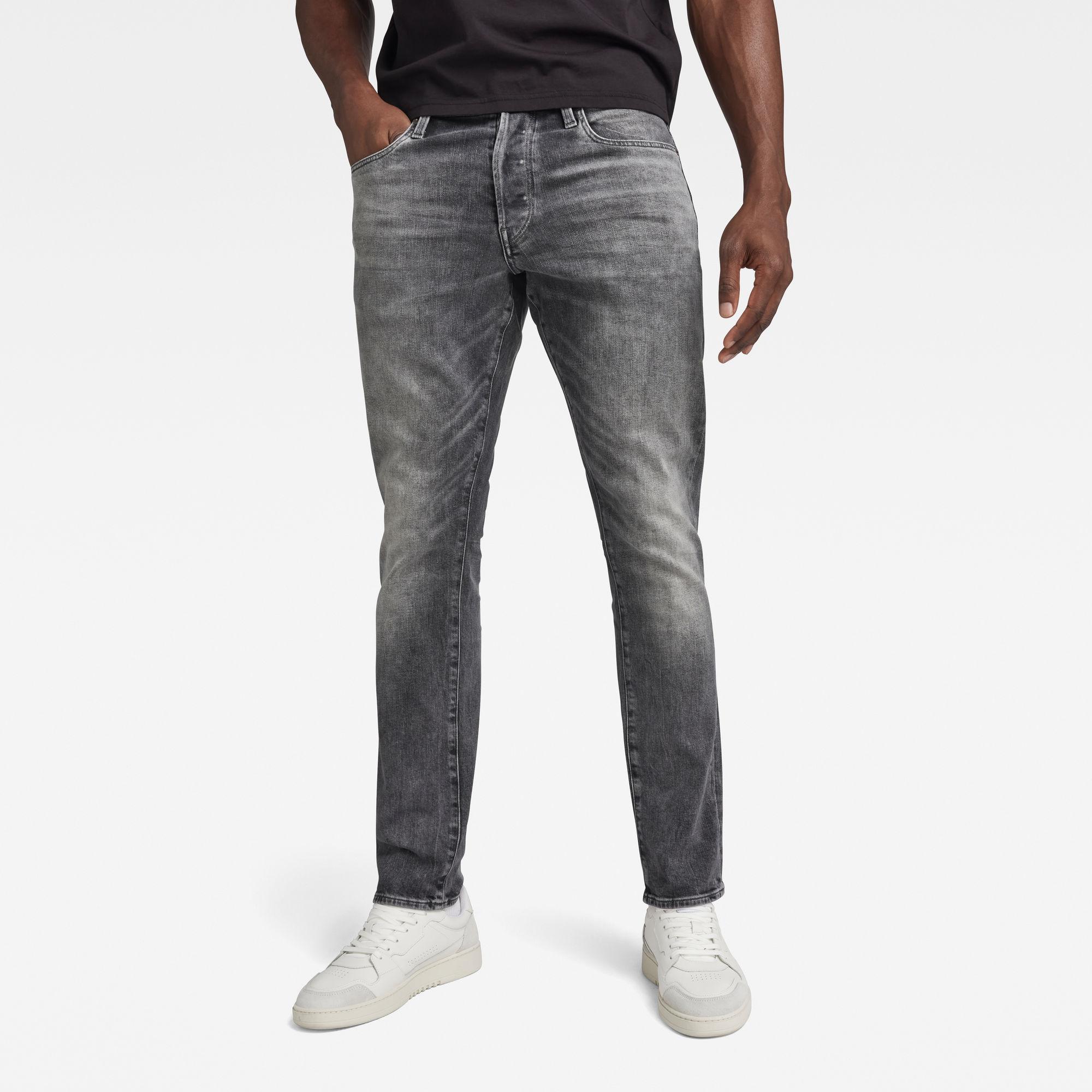G-Star RAW Heren 3301 Straight Tapered Jeans Grijs