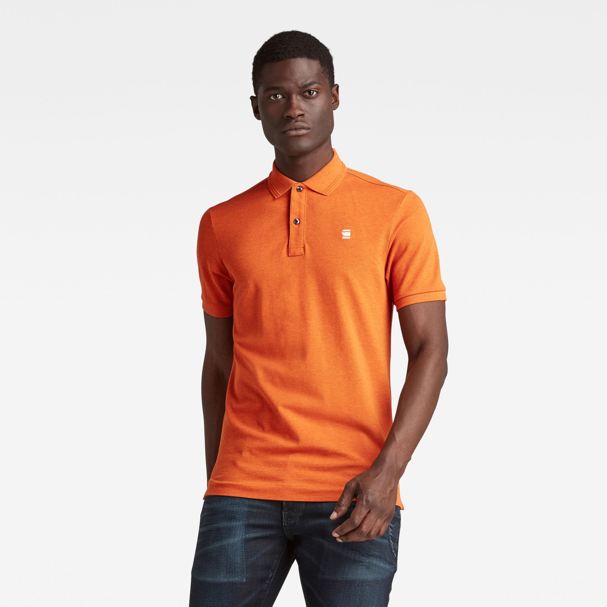 G-Star RAW Heren Dunda Slim Polo Oranje