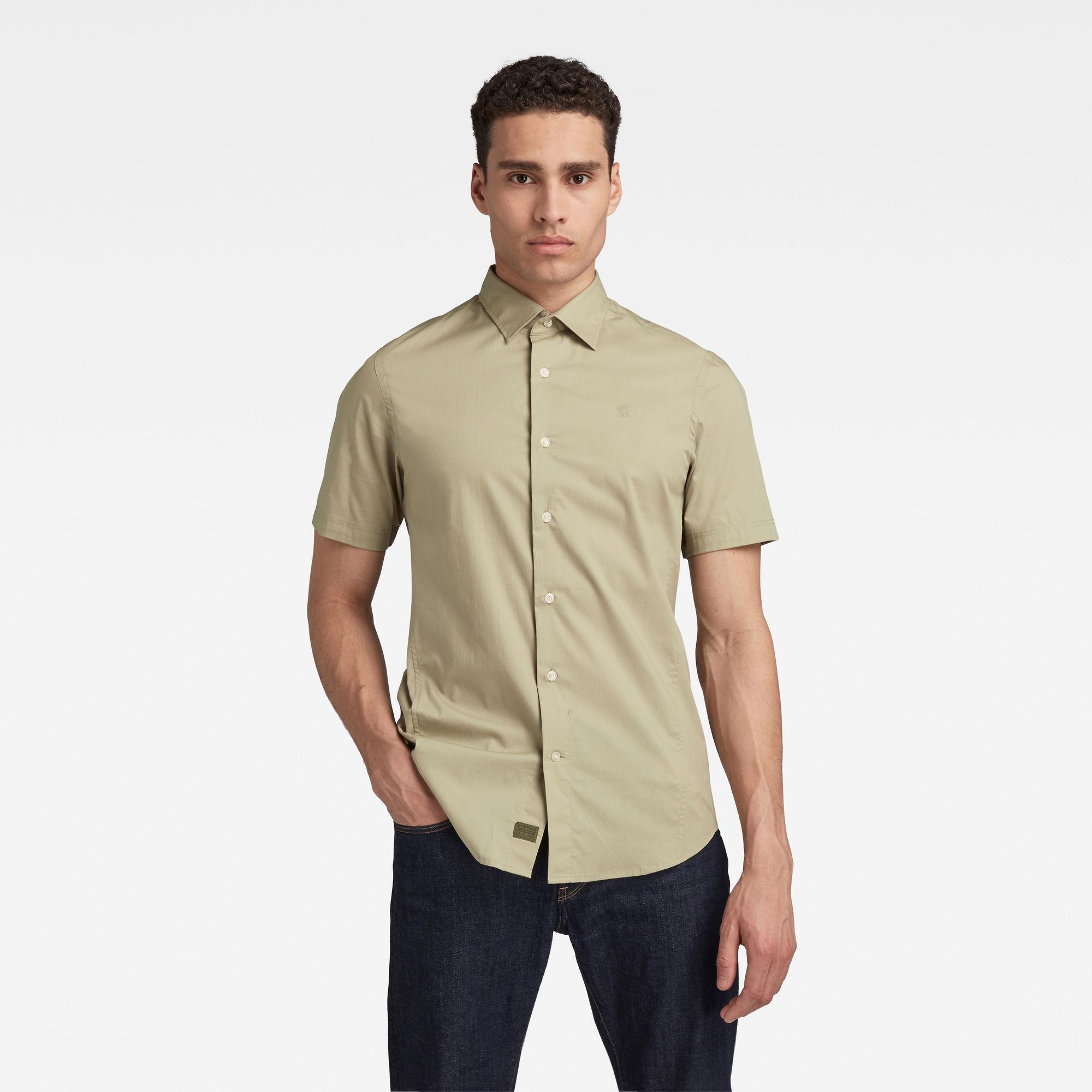 G-Star RAW Heren Dressed Super Slim Shirt Groen