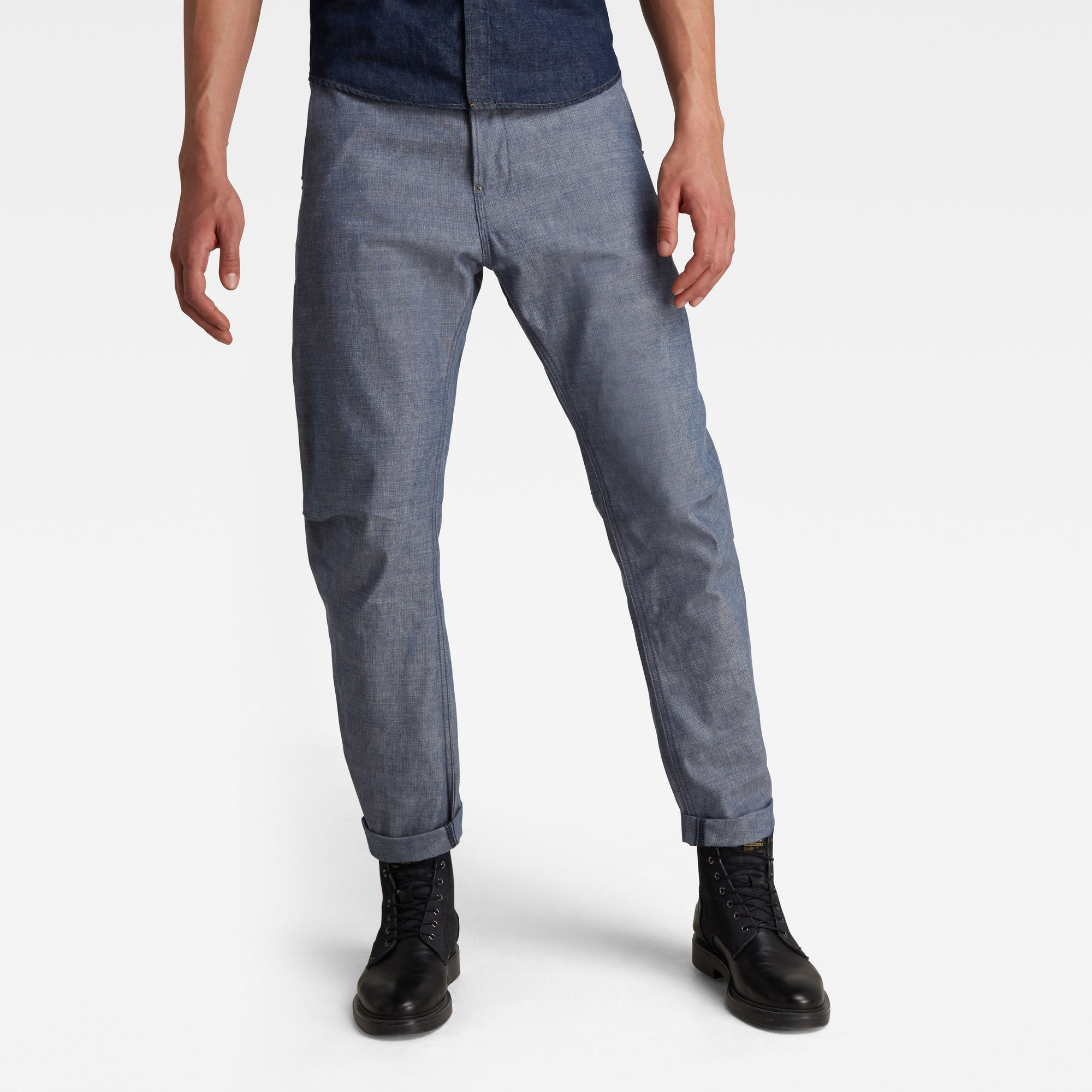G-Star RAW Heren GSRR Grip 3D Relaxed Tapered Jeans Donkerblauw