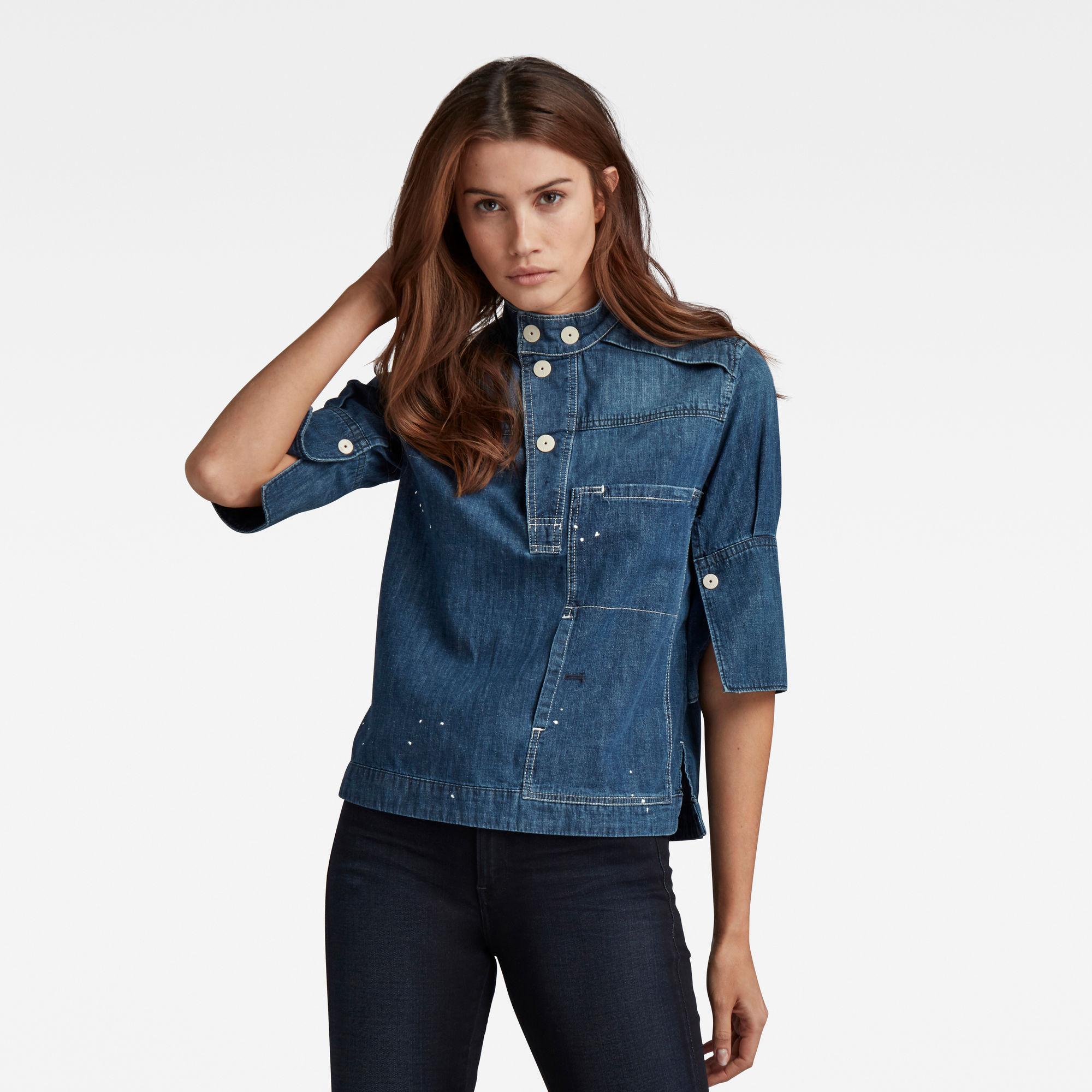 G-Star RAW Dames Workwear Shirt Blauw