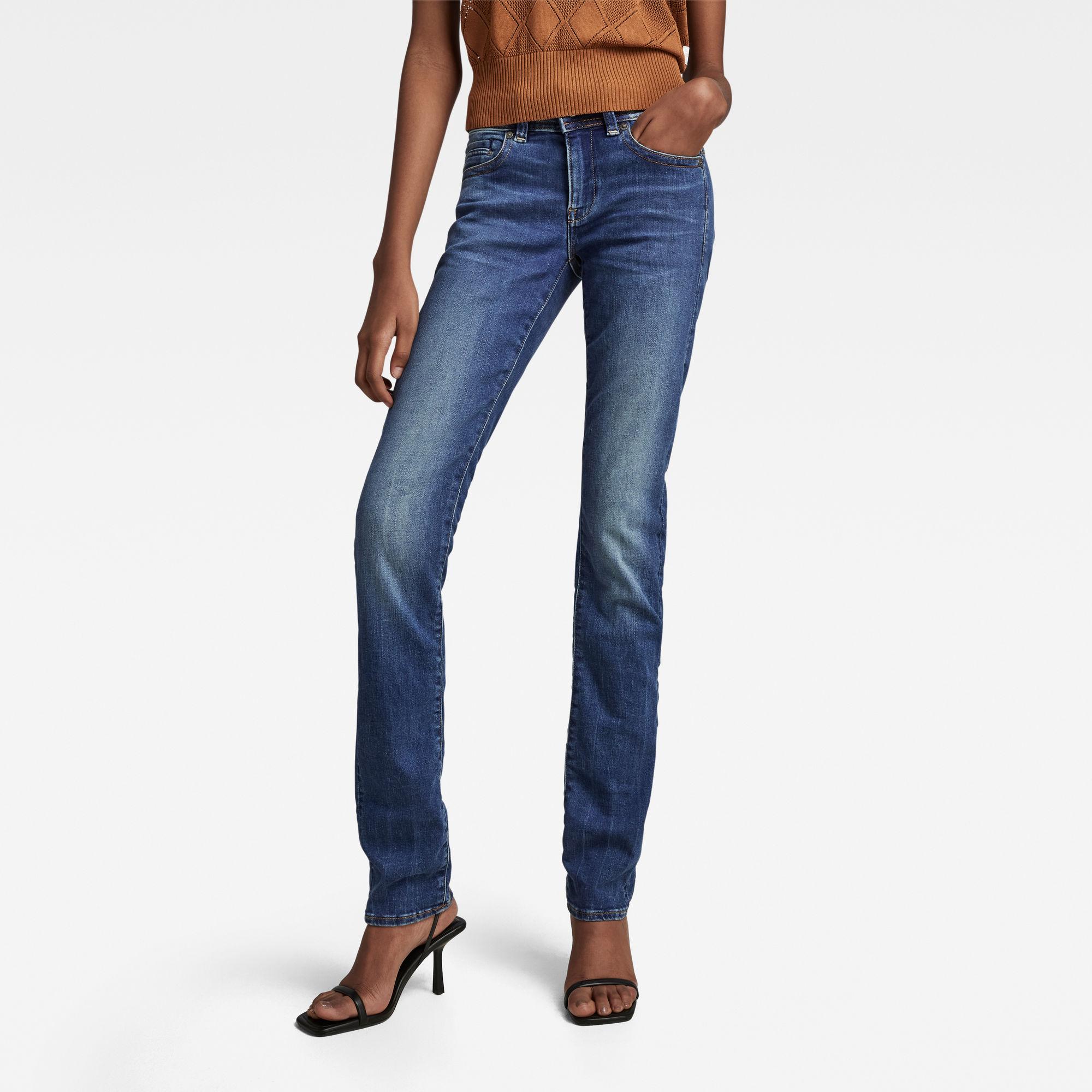 G-Star RAW Dames Midge Saddle Straight Jeans Blauw