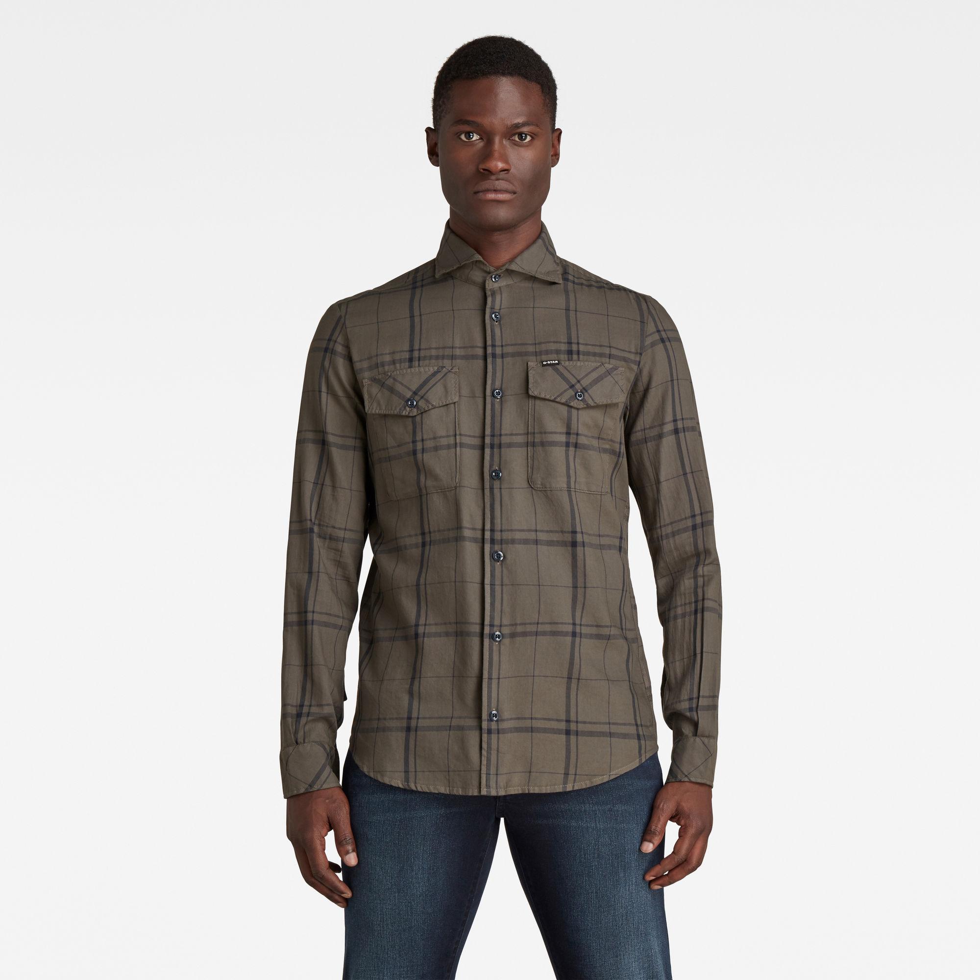 G-Star RAW Heren Marine Service Slim Shirt Meerkleurig