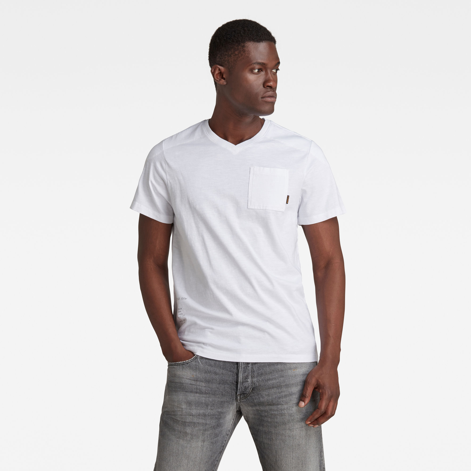 G-Star RAW Heren Cargo Sport T-Shirt Wit