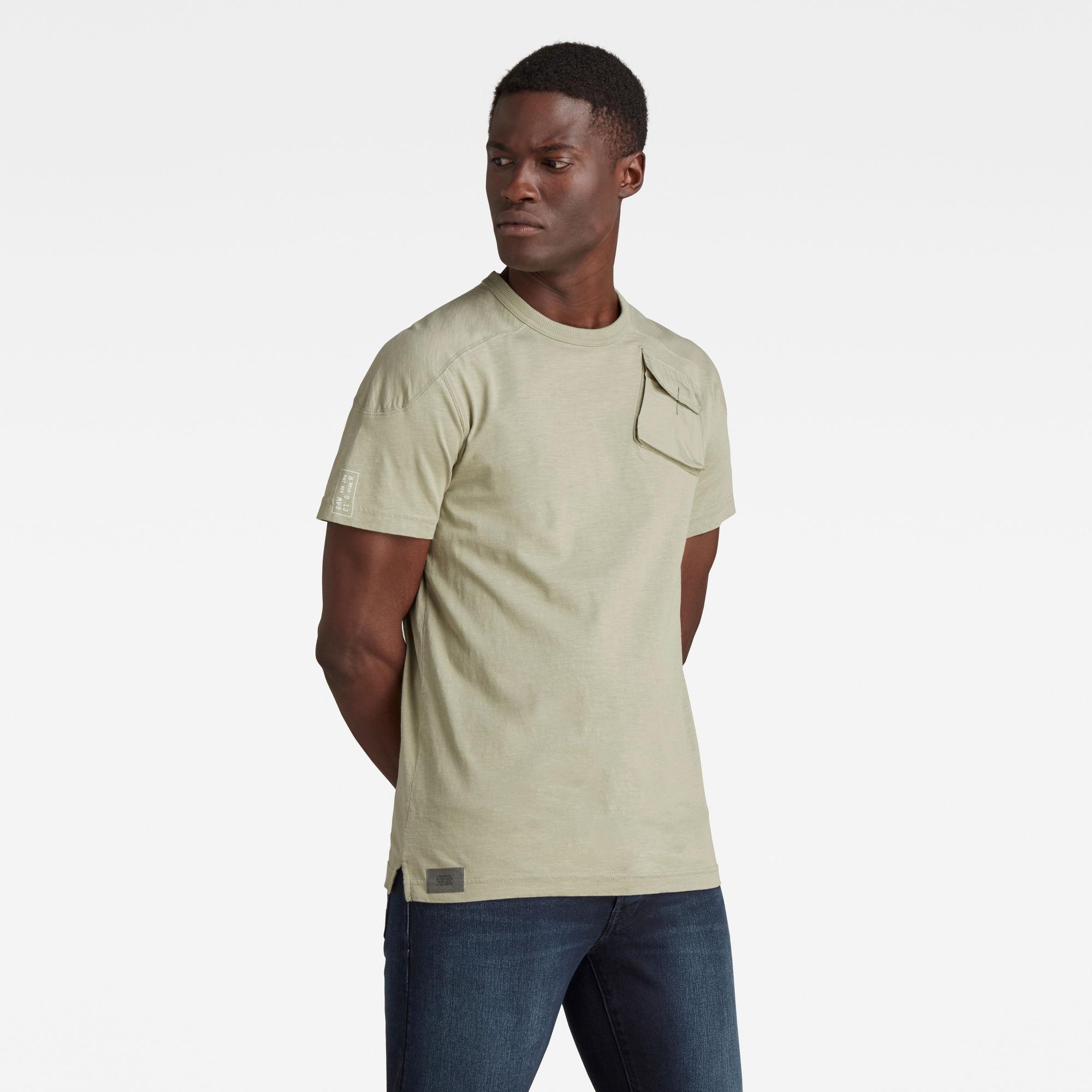 G-Star RAW Heren Military 3D Woven Pocket T-Shirt Groen