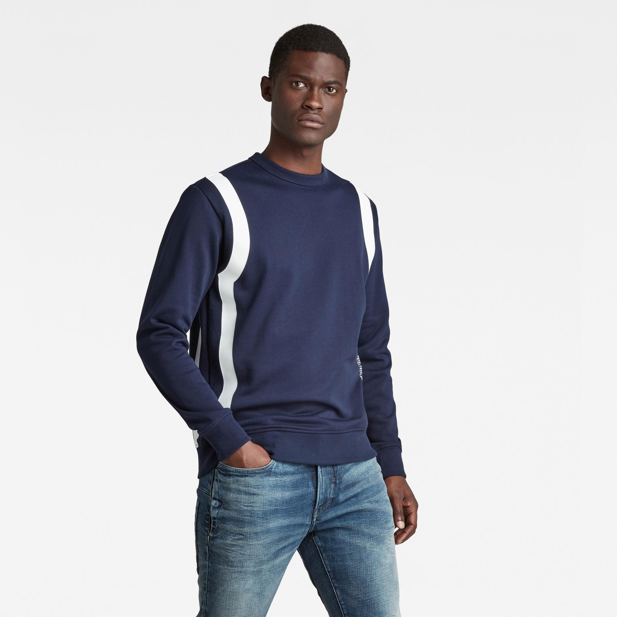 G-Star RAW Heren Sport Insert Sweater Donkerblauw