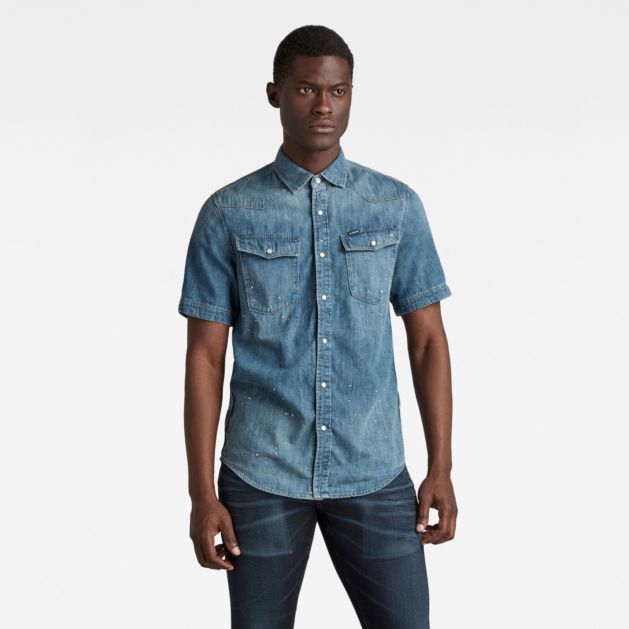 G-Star RAW Heren 3301 Slim Shirt Blauw