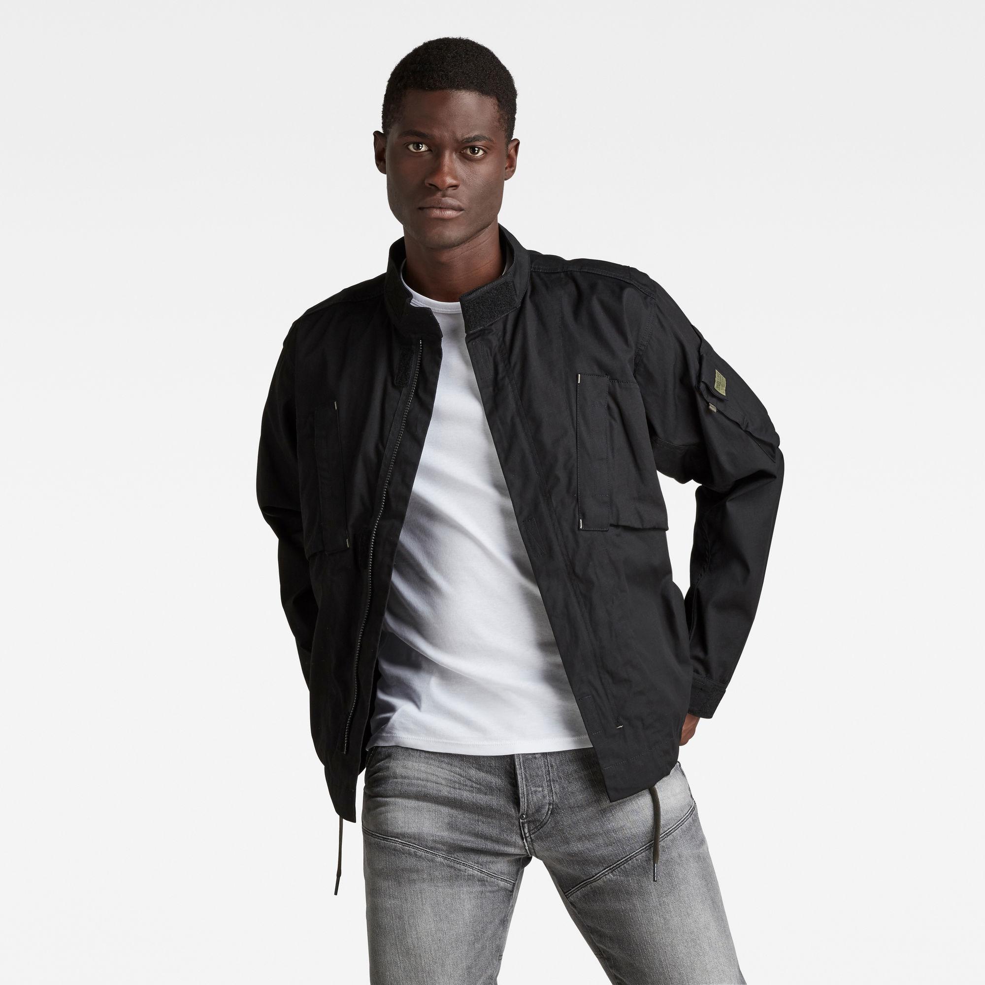 G-Star RAW Heren Tussenjas Sporty Slanted Pocket Zwart