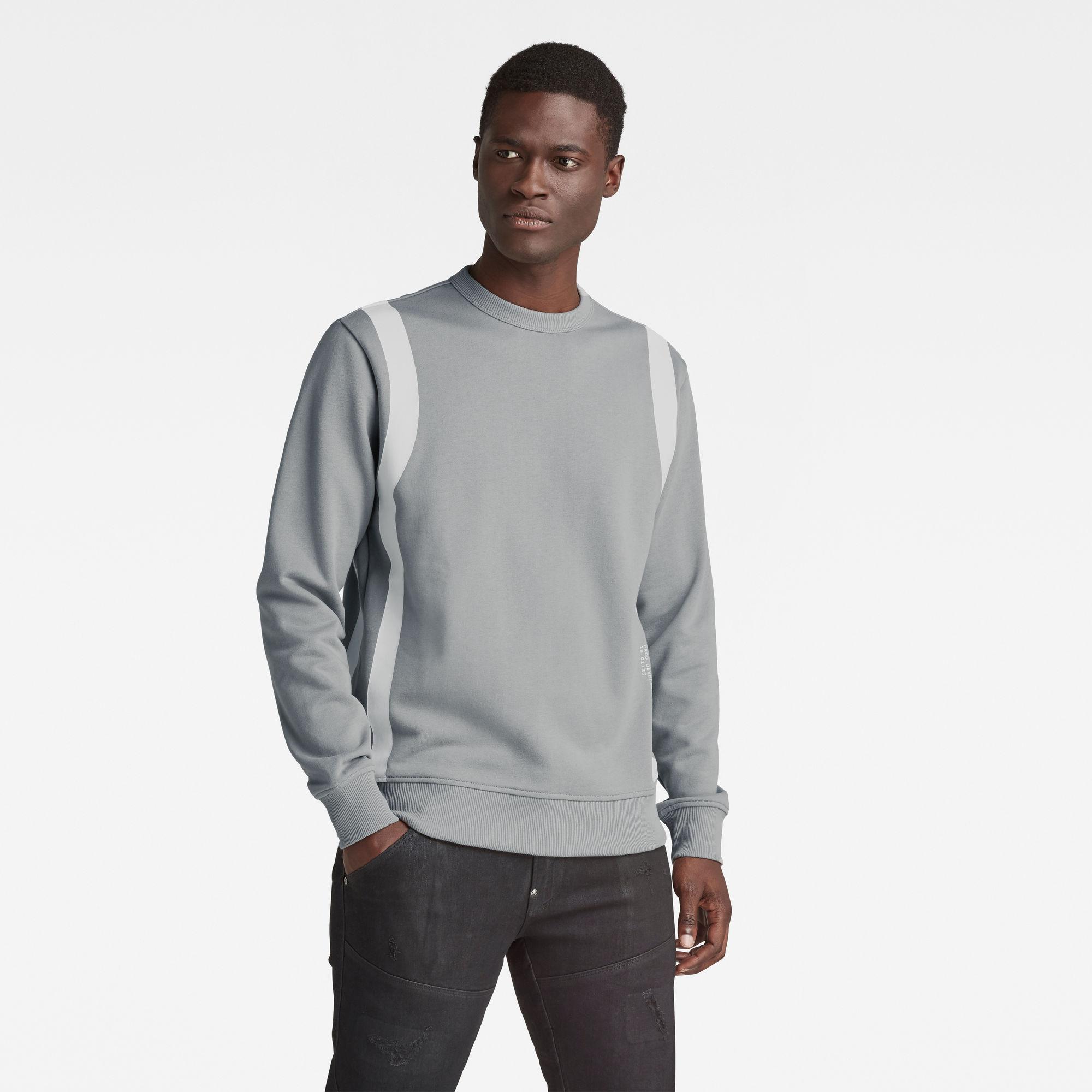 G-Star RAW Heren Sport Insert Sweater Grijs