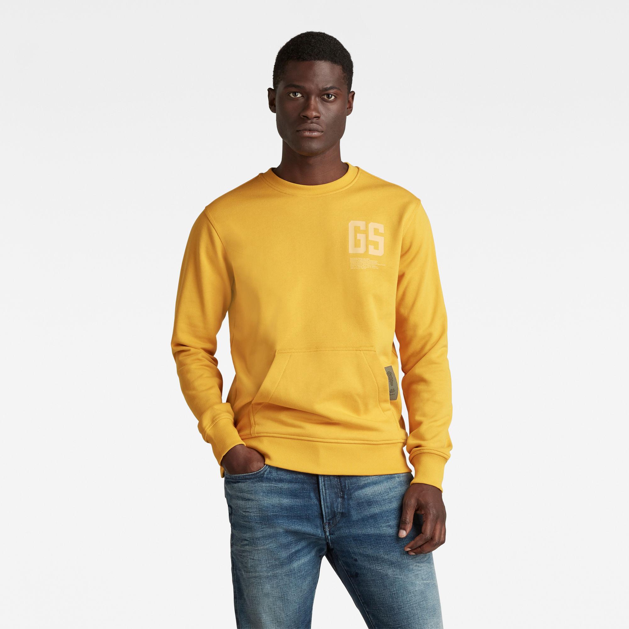 G-Star RAW Heren Stitch Pocket Sweater Geel