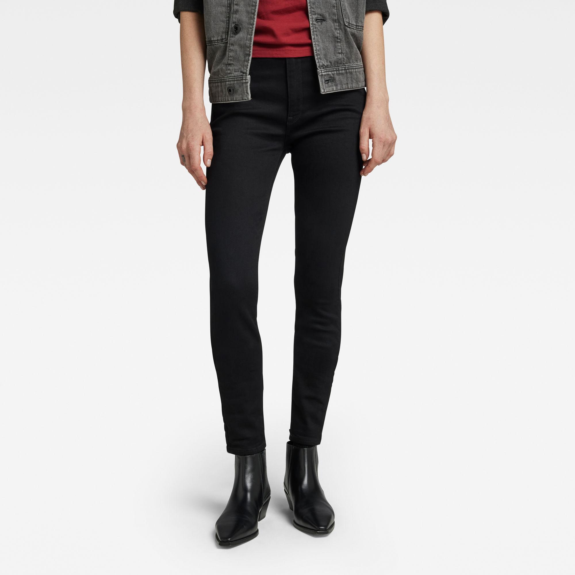G-Star RAW Dames Kafey Ultra High Skinny Jeans Zwart