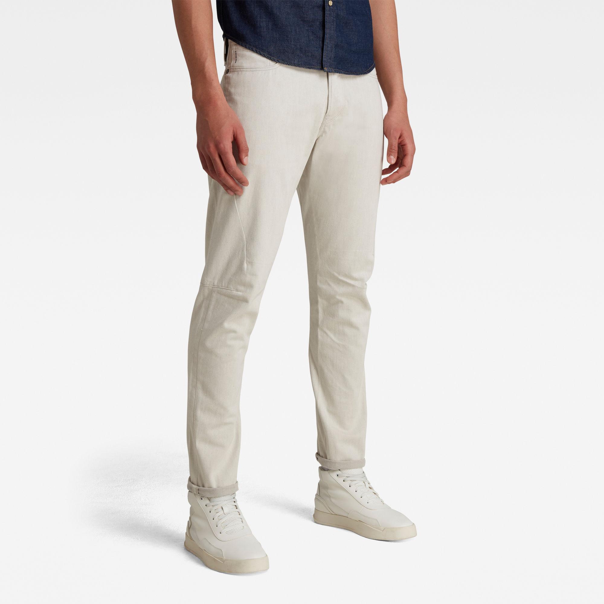 G-Star RAW Heren Scutar 3D Tapered Jeans Beige