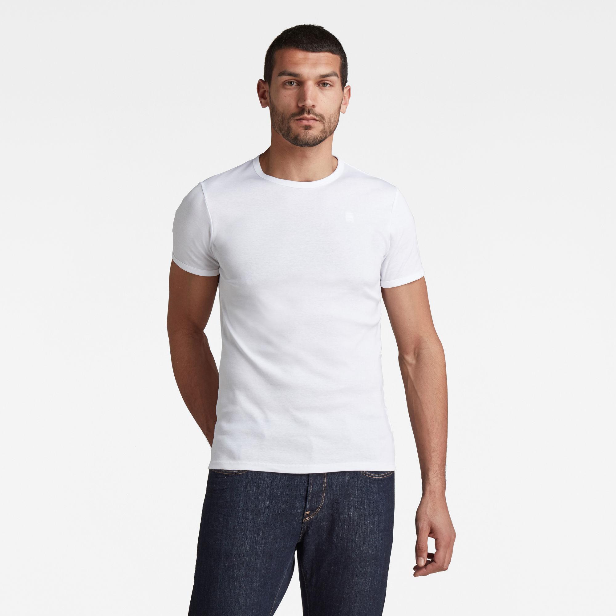 G-Star RAW Heren Base T-Shirt - set van 2 Meerkleurig