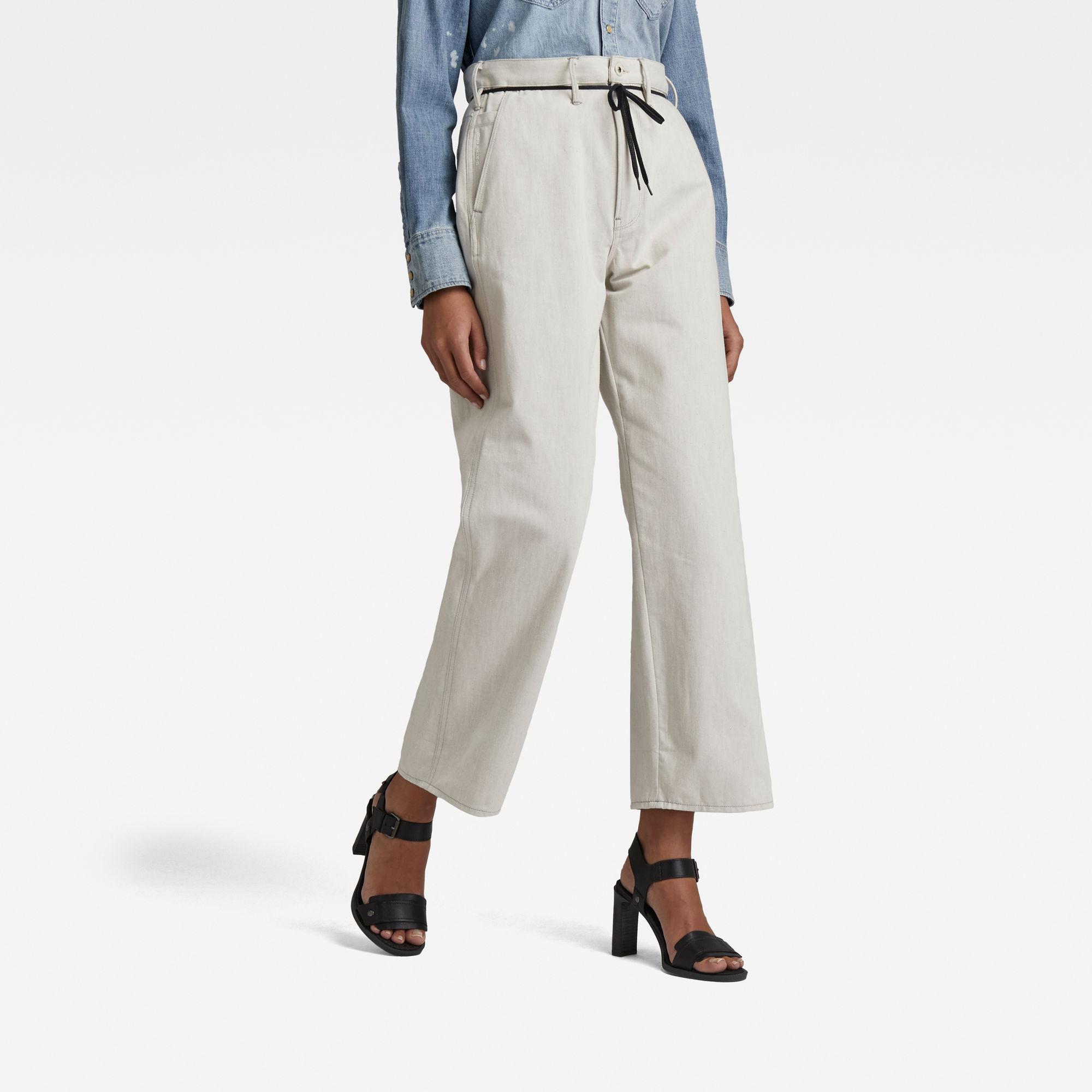 G-Star RAW Dames Lintell High Dad Jeans Beige
