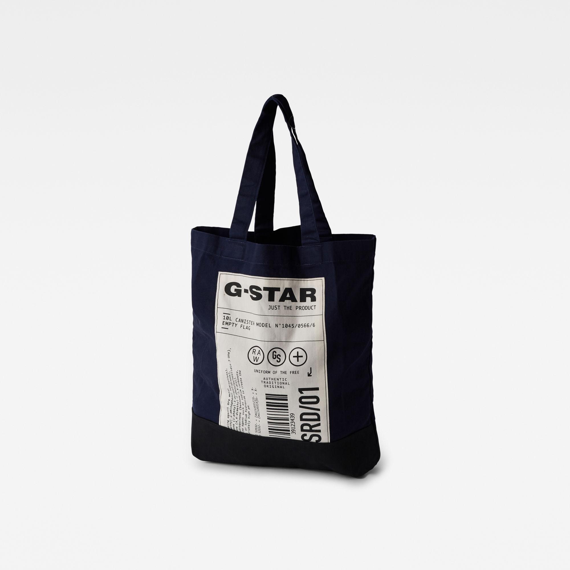G-Star RAW Heren Canvas Shopper Donkerblauw