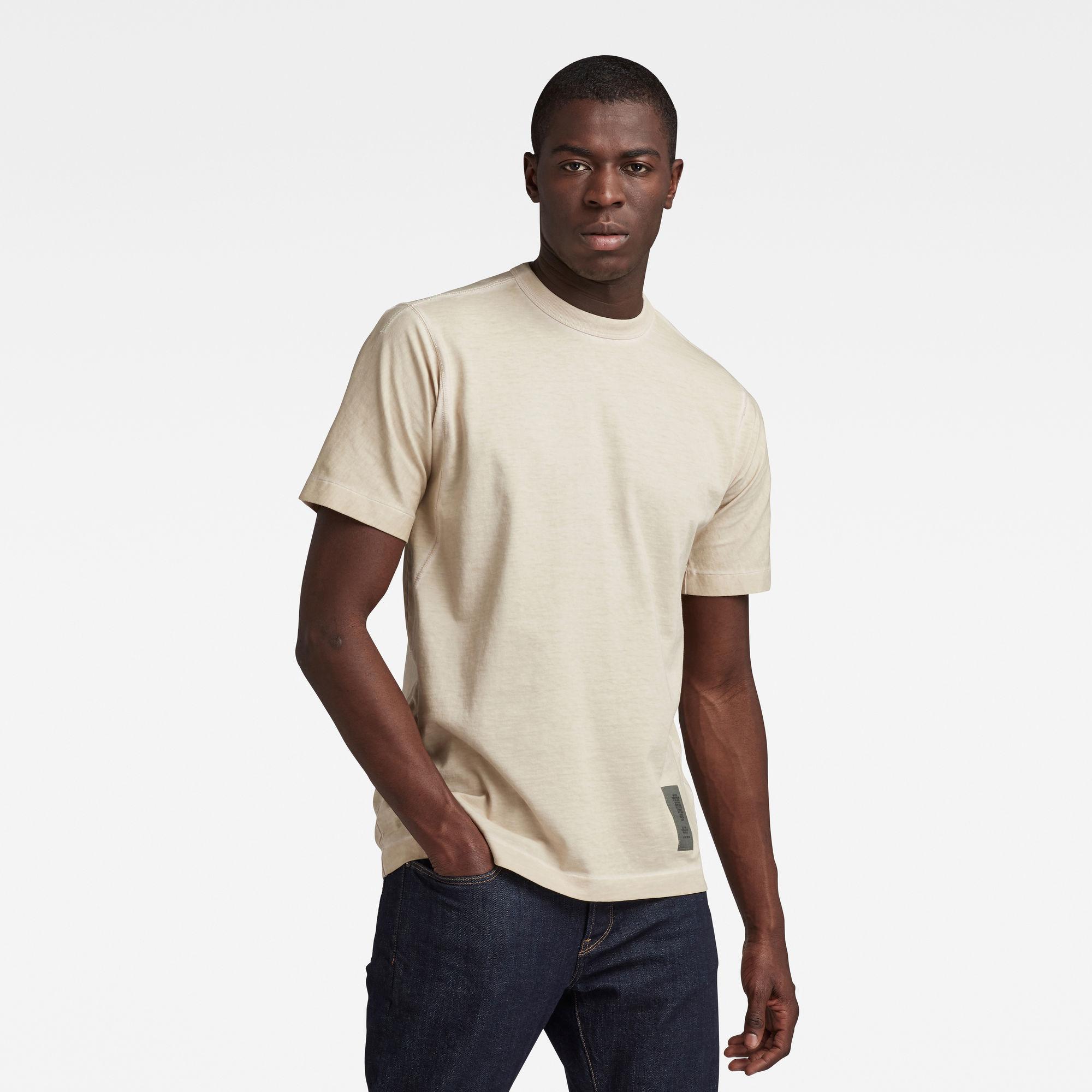 G-Star RAW Heren Raw Construction OD Loose T-Shirt Beige