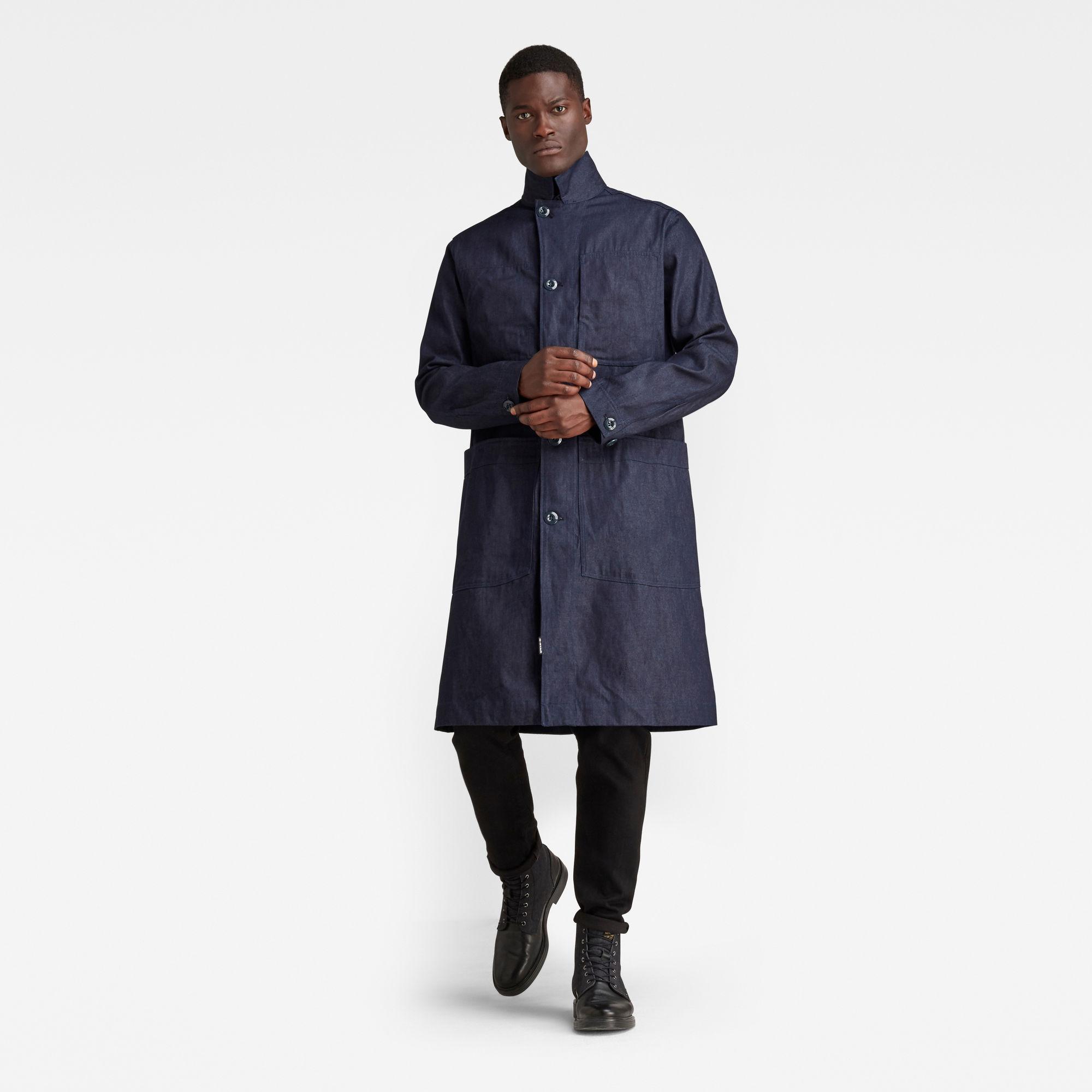G-Star RAW Heren Mac Coat Donkerblauw