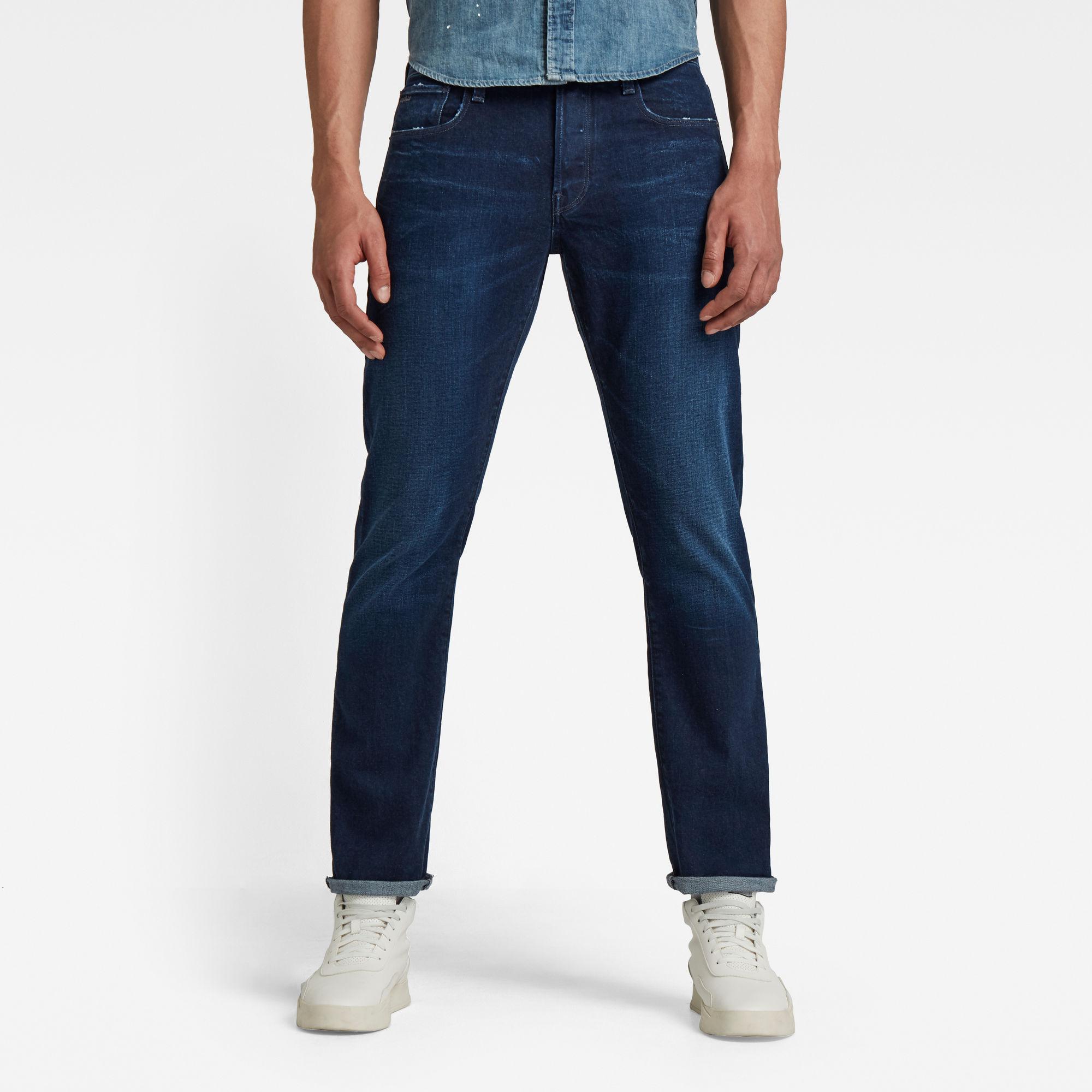 G-Star RAW Heren 3301 Regular Straight Jeans Donkerblauw