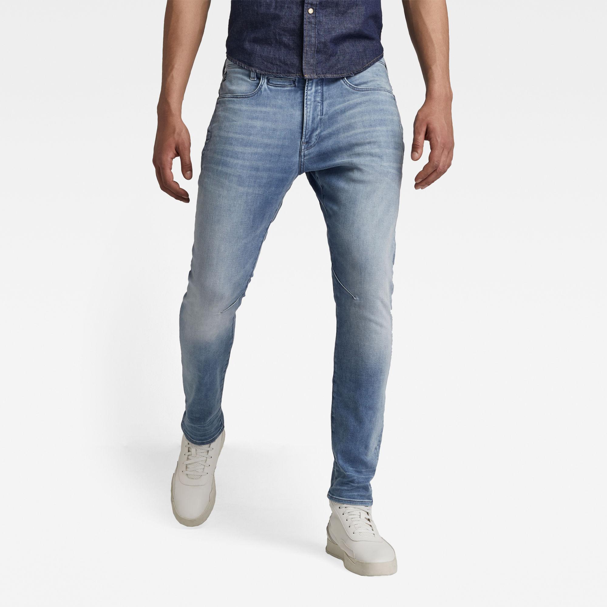 G-Star RAW Heren D-Staq 3D Slim Jeans Lichtblauw
