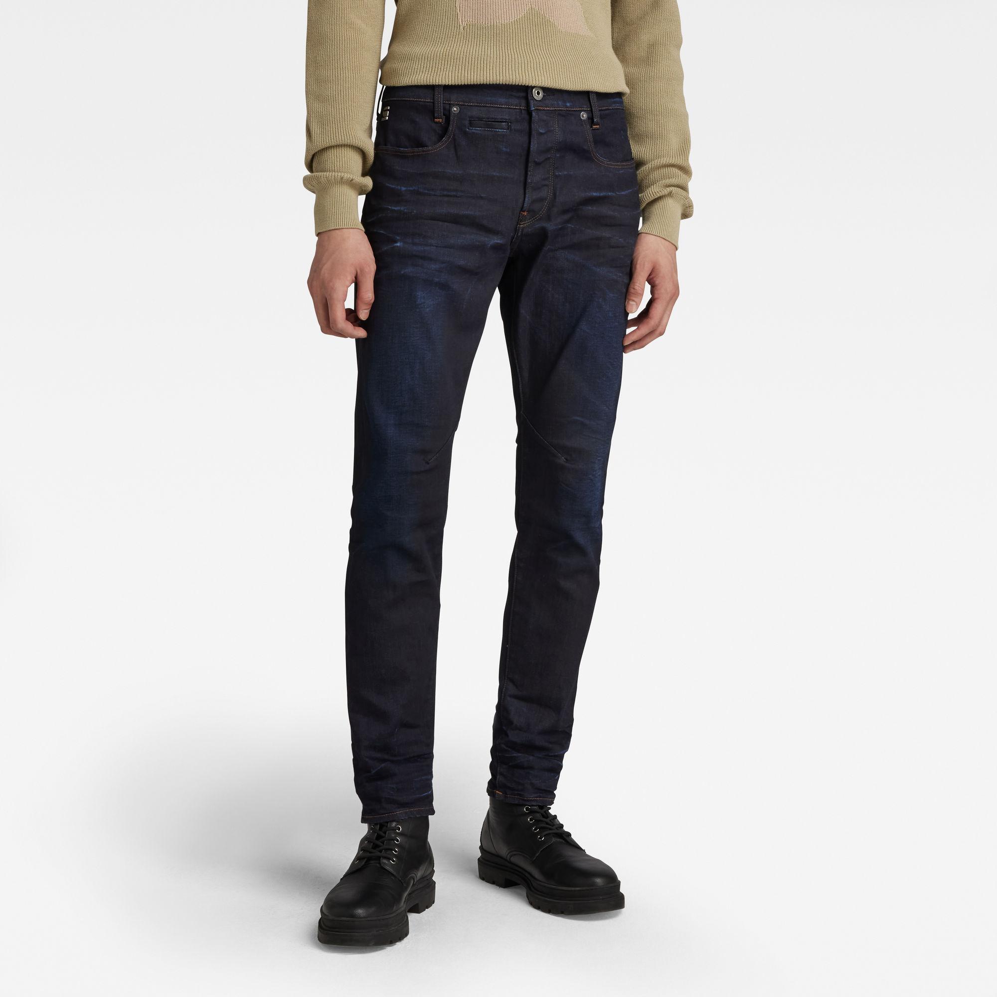 G-Star RAW Heren D-Staq 5-Pocket Slim Jeans Donkerblauw
