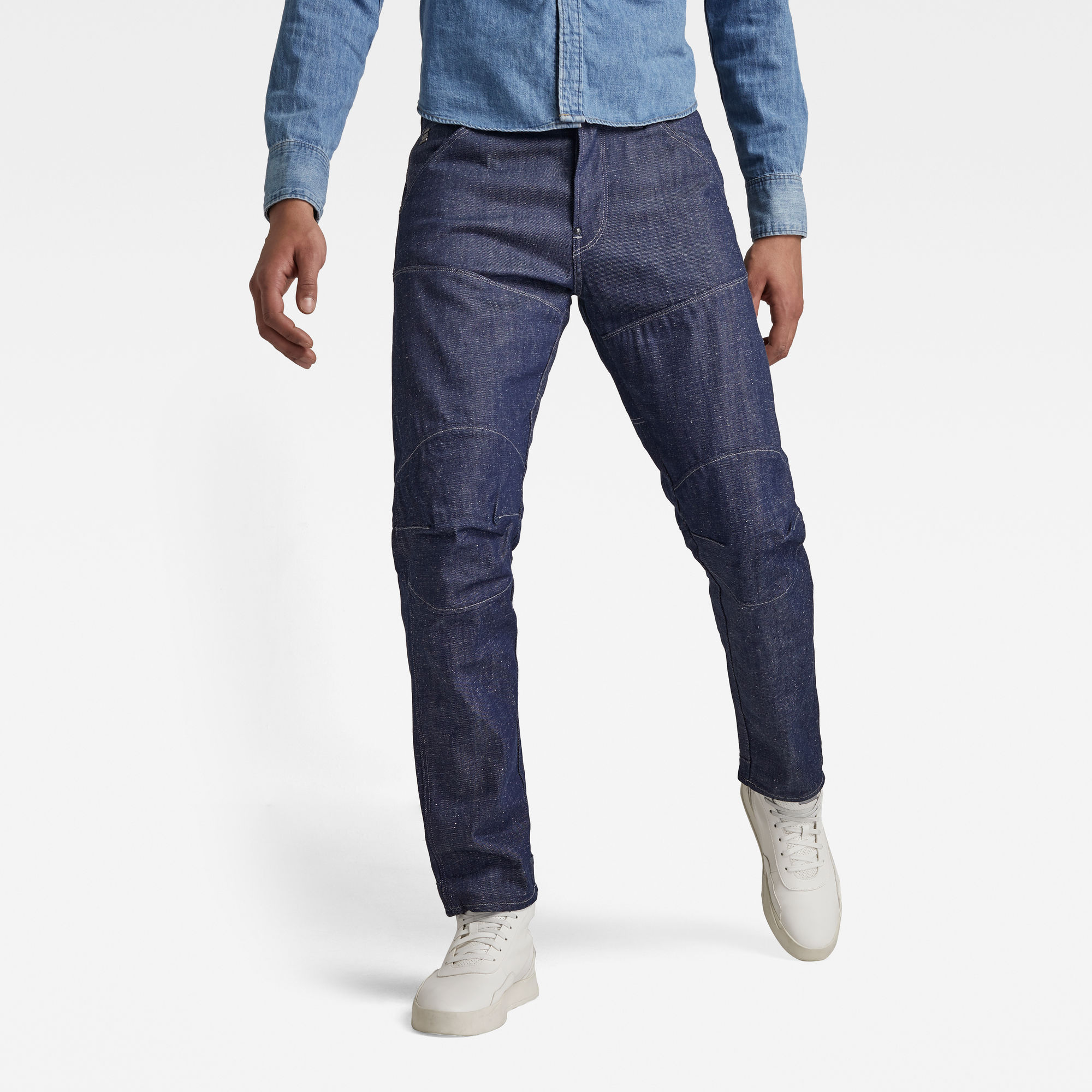 G-Star RAW Heren 5620 3D Original Relaxed Tapered Jeans Donkerblauw