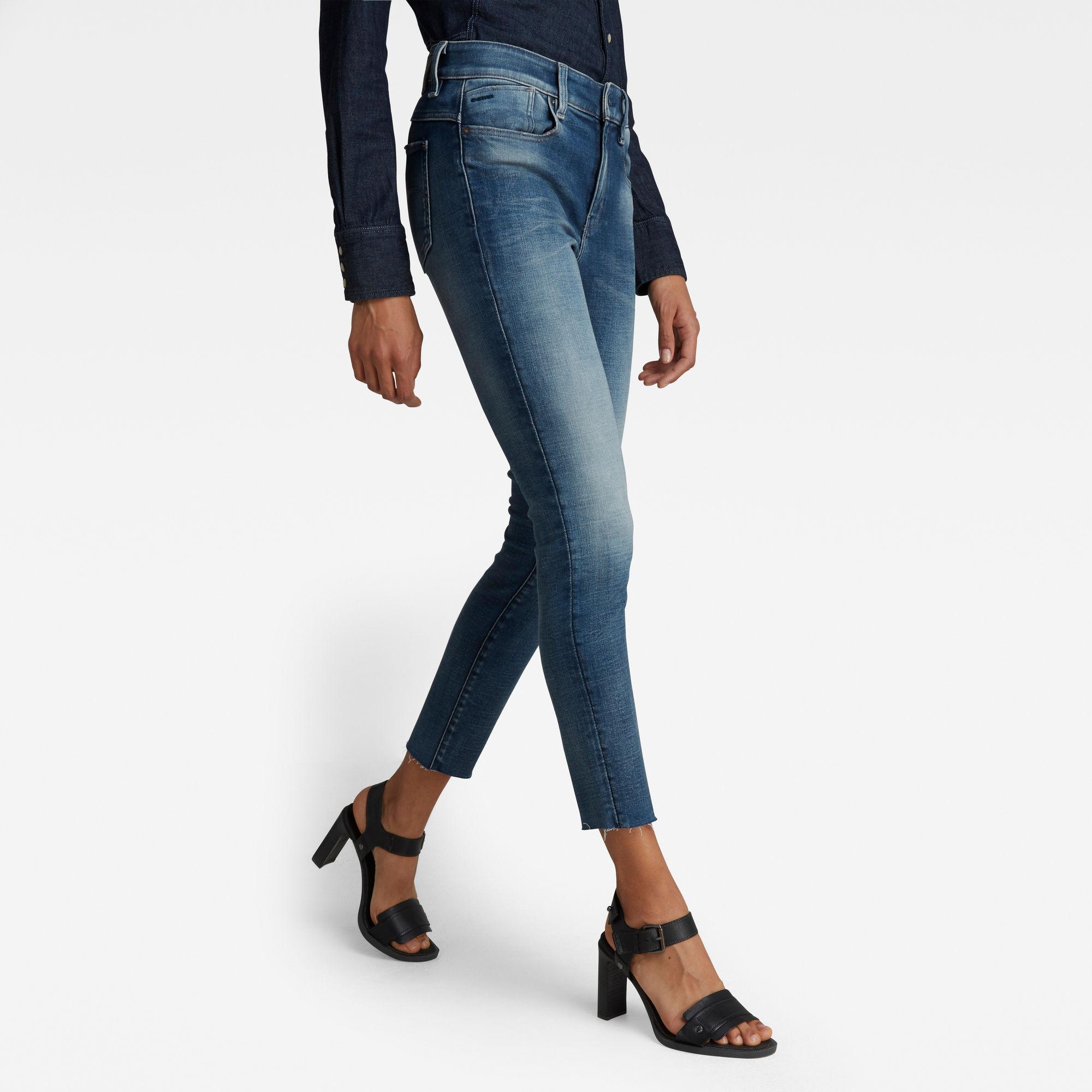 G-Star RAW Dames Lhana Skinny Ankle Jeans Blauw