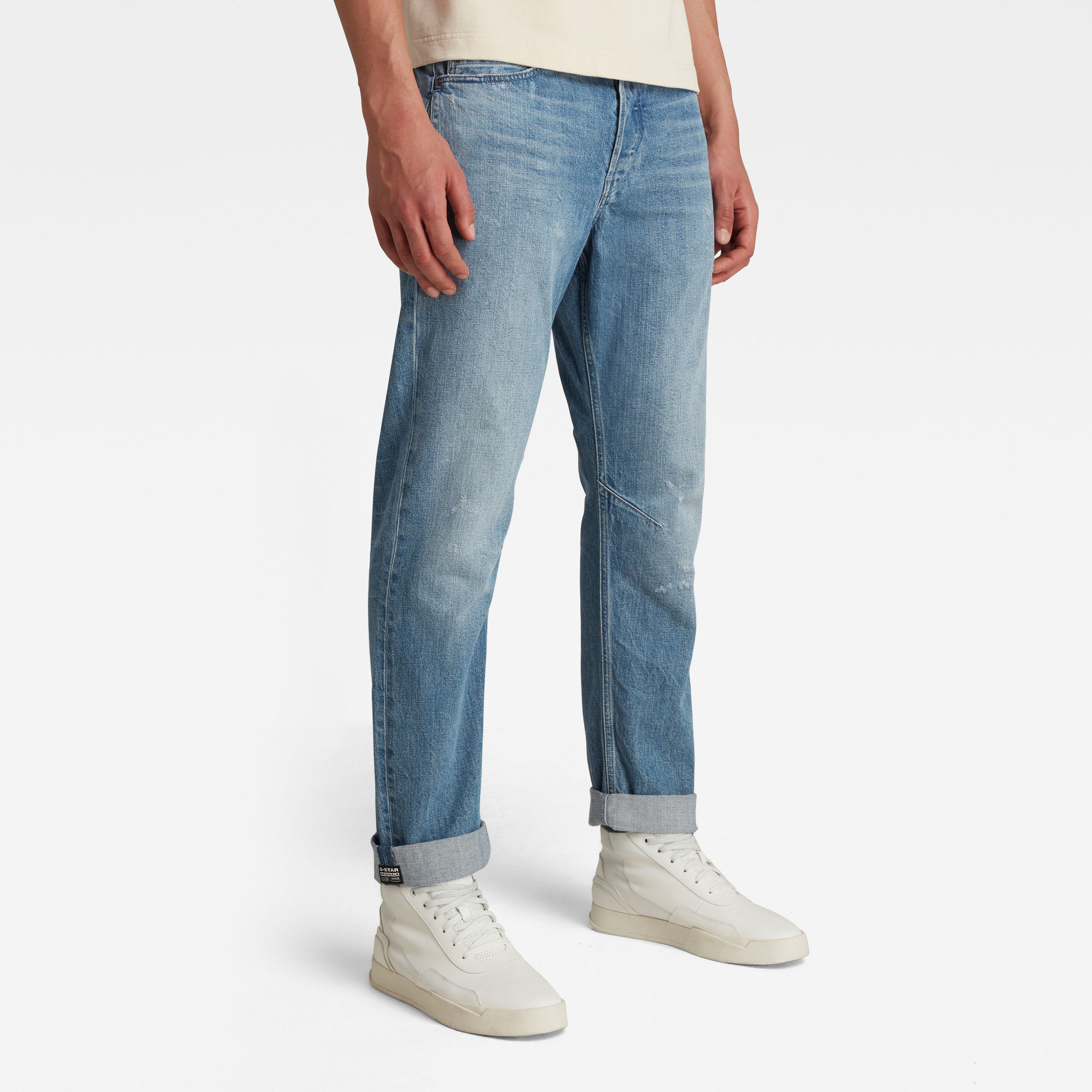 G-Star RAW Heren A-Staq Tapered Jeans Lichtblauw
