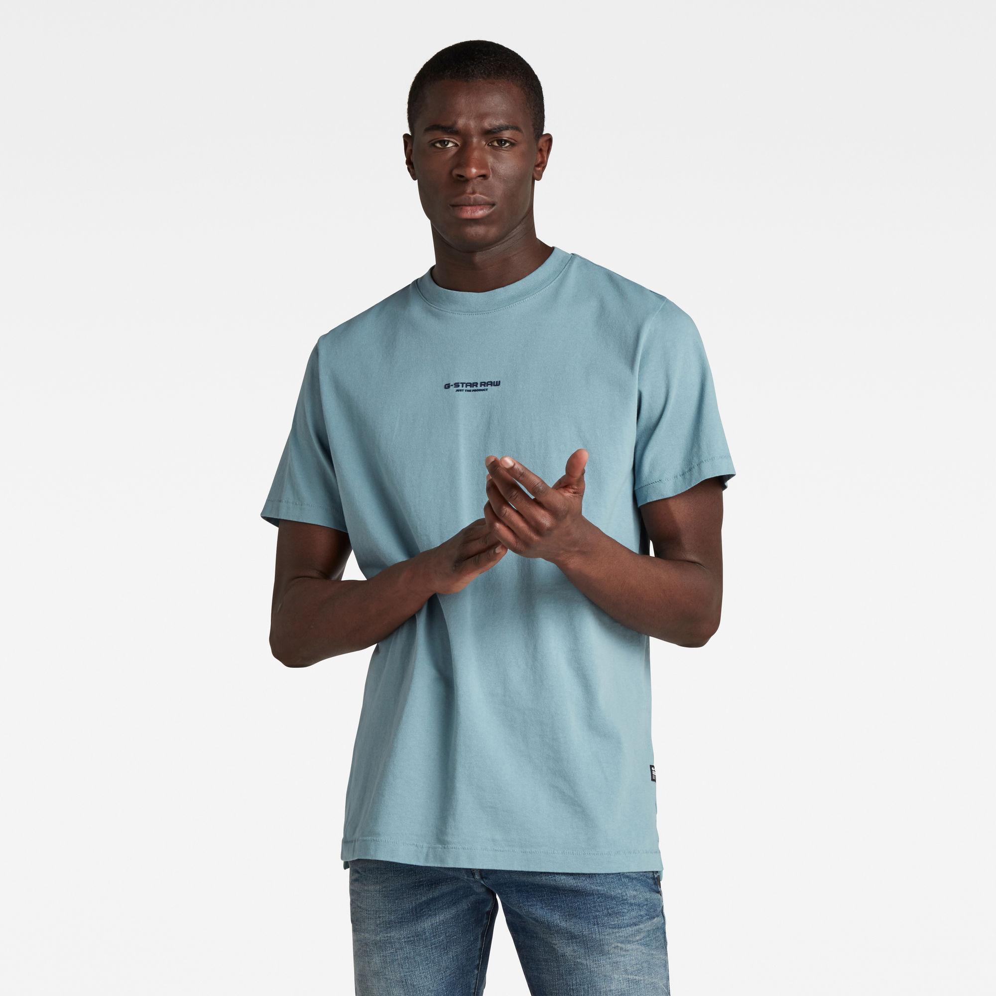 G-Star RAW Heren Center Chest Logo GR Loose T-Shirt Grijs