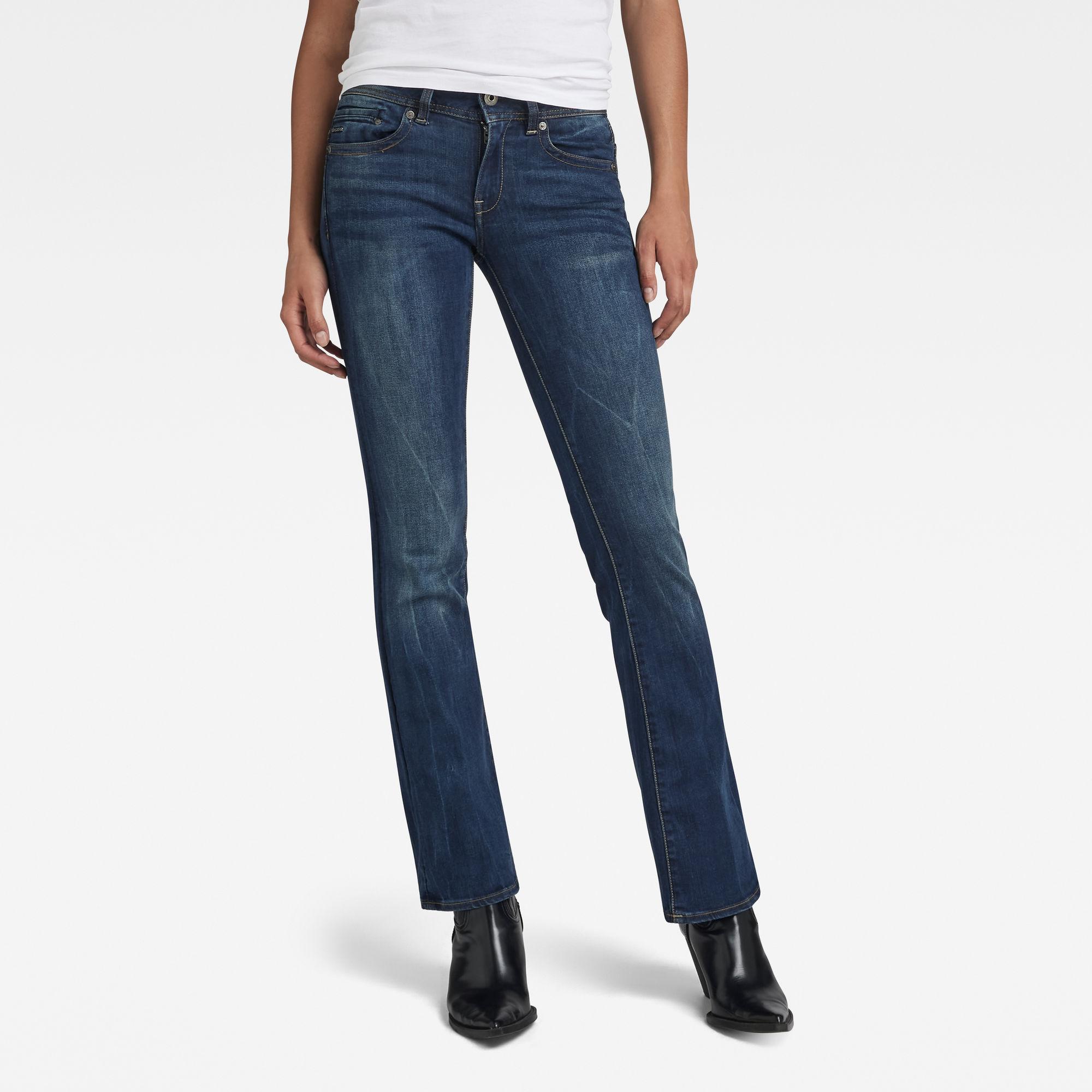G-Star RAW Dames Midge Bootcut Jeans Zwart