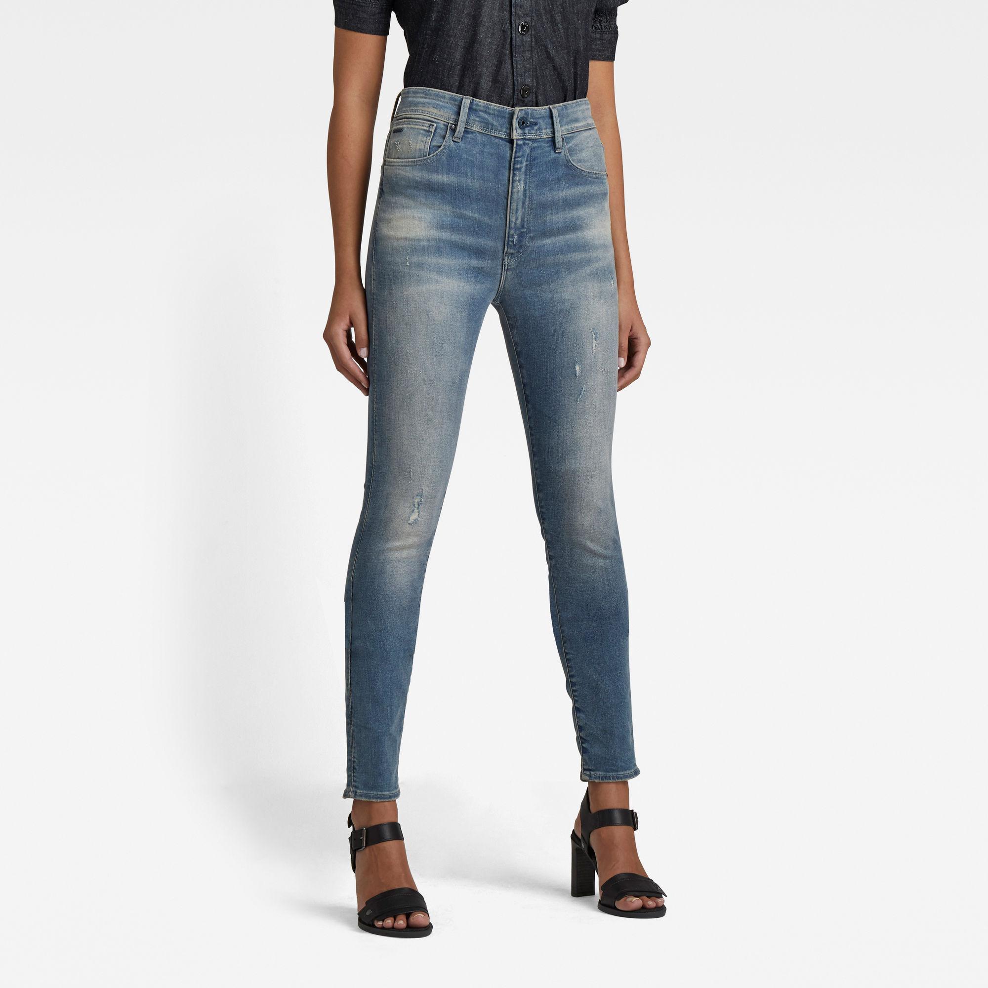 G-Star RAW Dames Kafey Ultra High Skinny Jeans Blauw