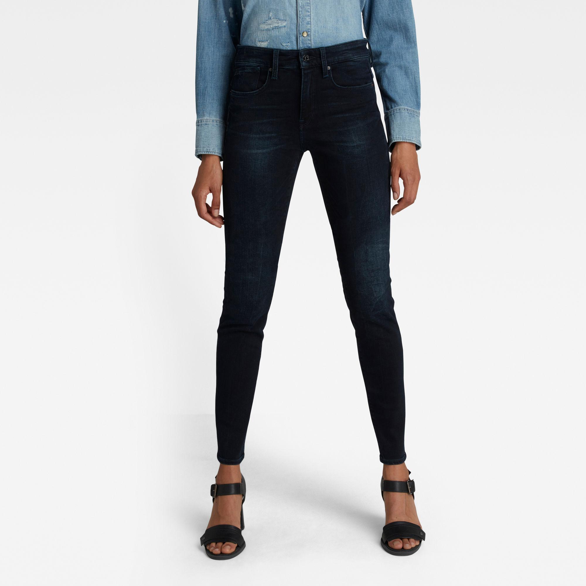 G-Star RAW Dames Lhana Skinny Jeans Donkerblauw